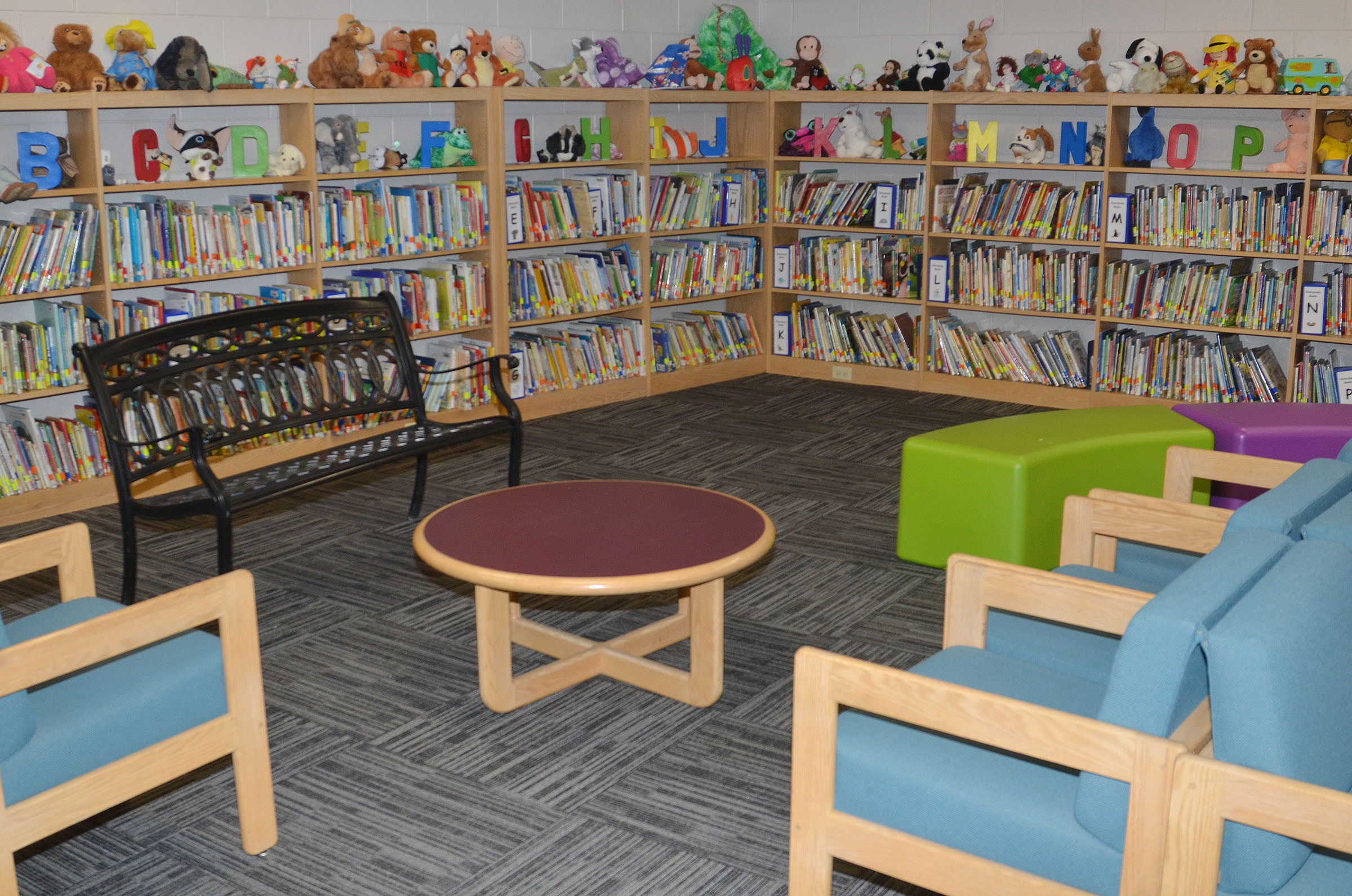 New chairs were recently added to the CES library.
