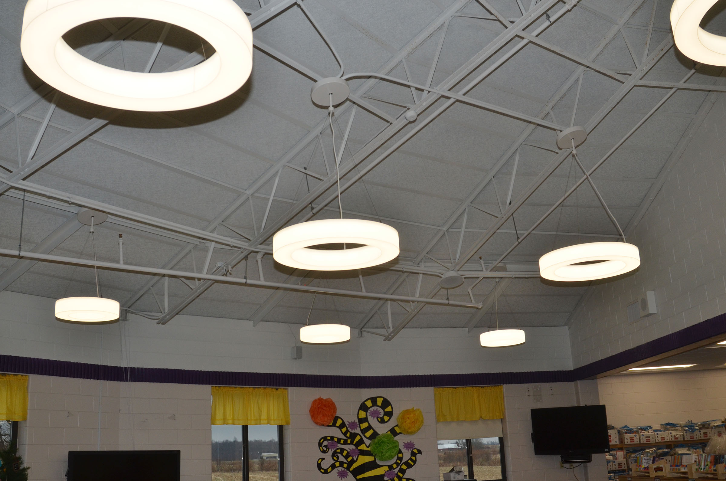 New lighting was recently installed at the CES library.