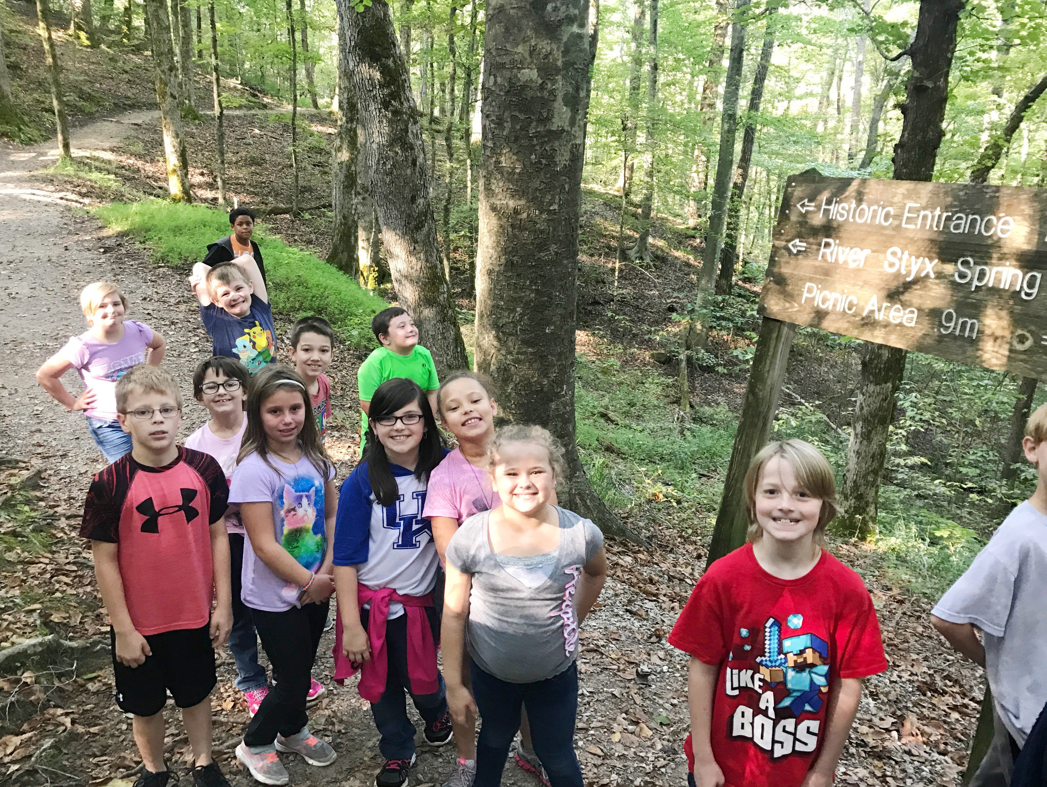 CES fourth-graders are ready to tour Mammoth Cave.