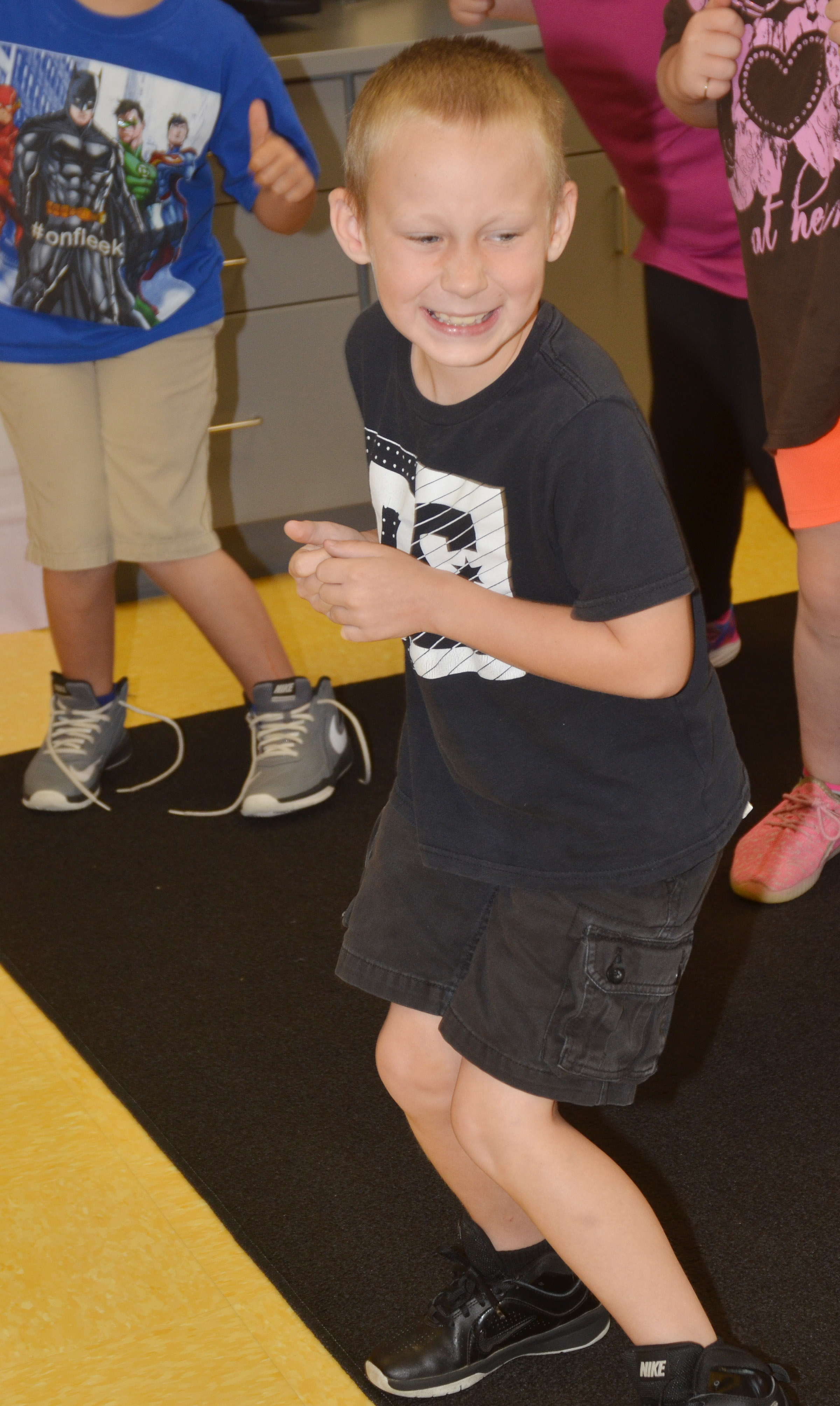 "CES second-grader Raleigh Spencer dances to ""A Tooty Tay."""