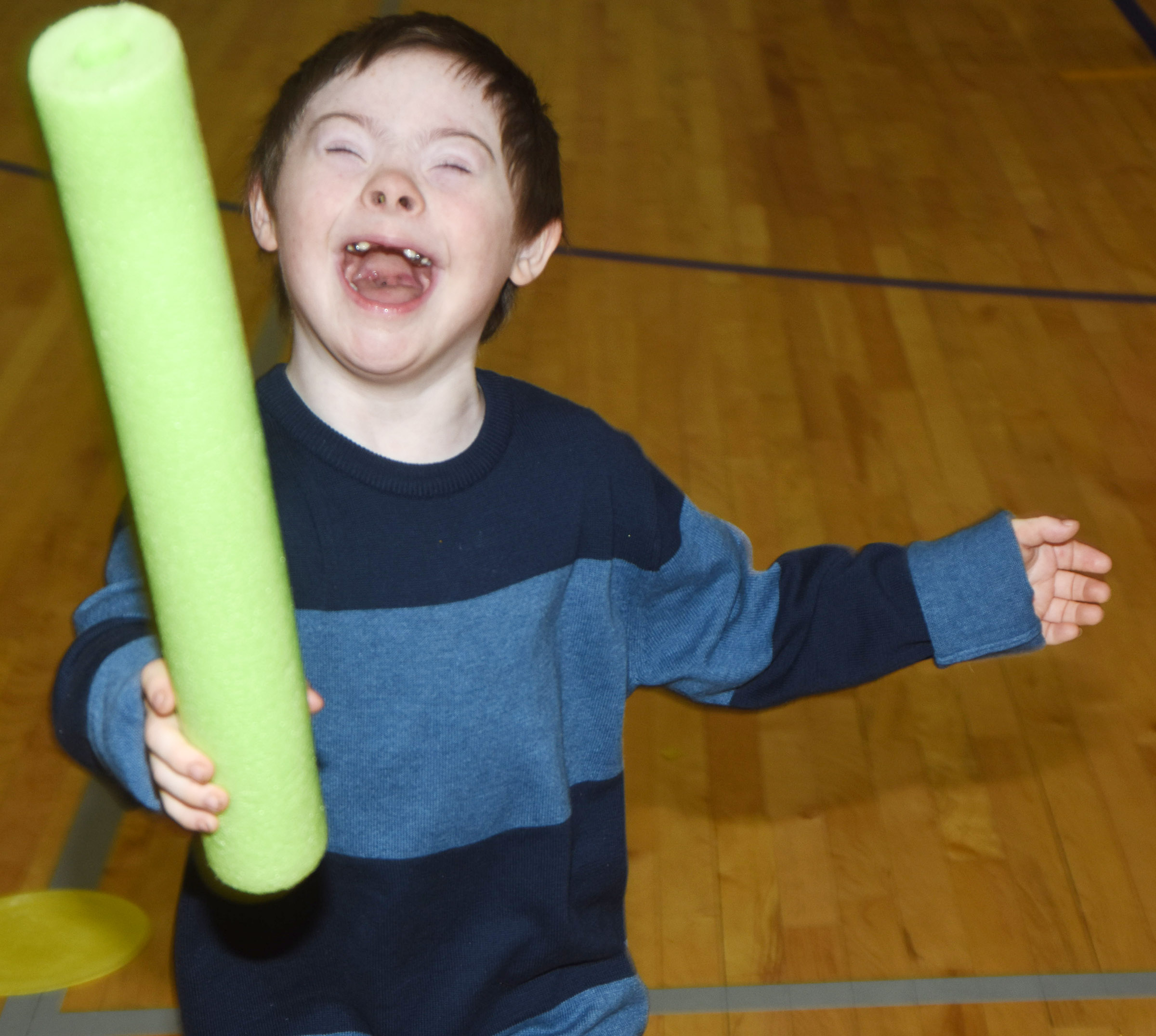 "CES second-grader Nicholas Brunner is the ""Grinch"" in a game of Grinch tag."