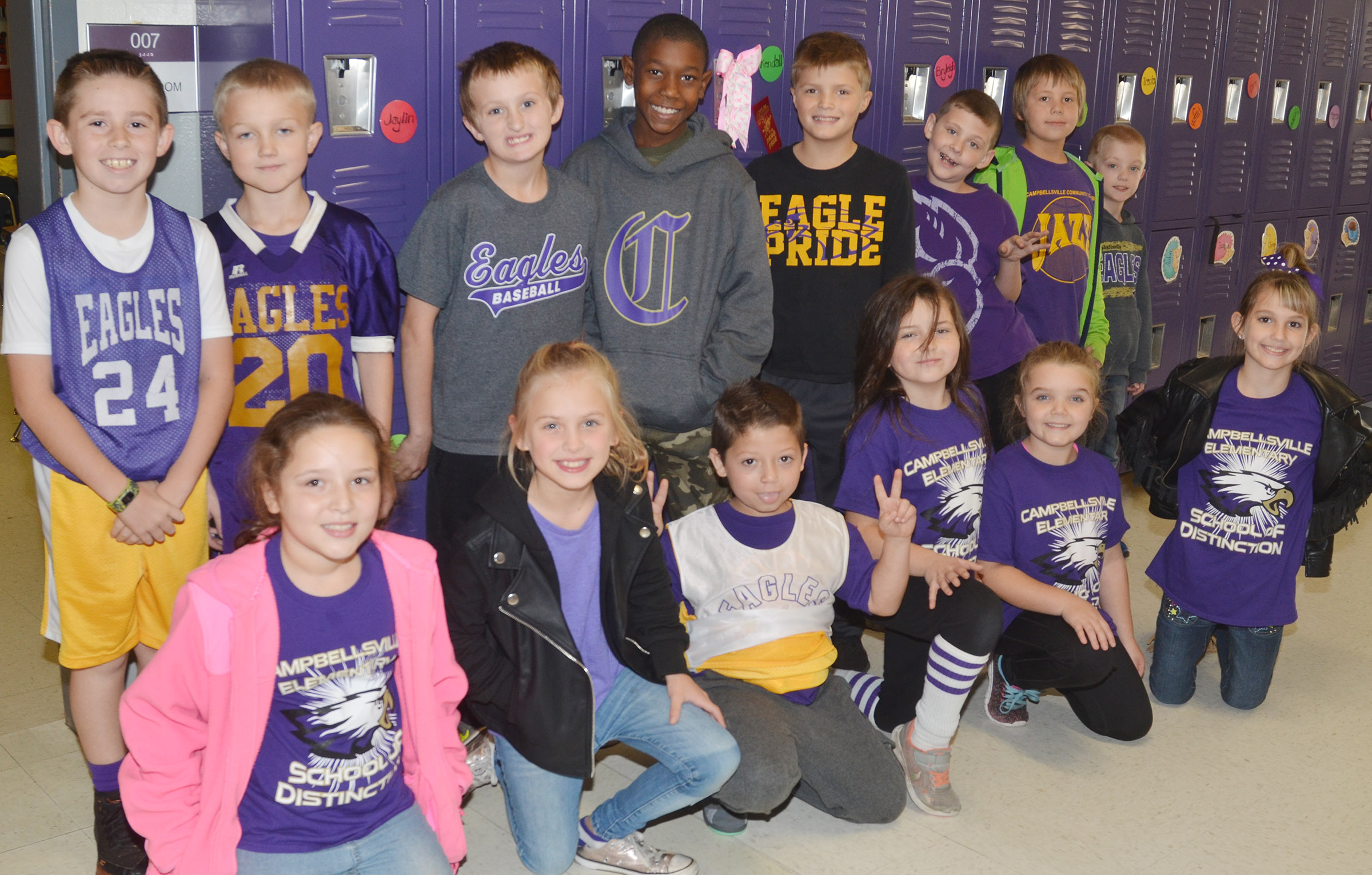 CES students team up against drugs by wearing school colors.