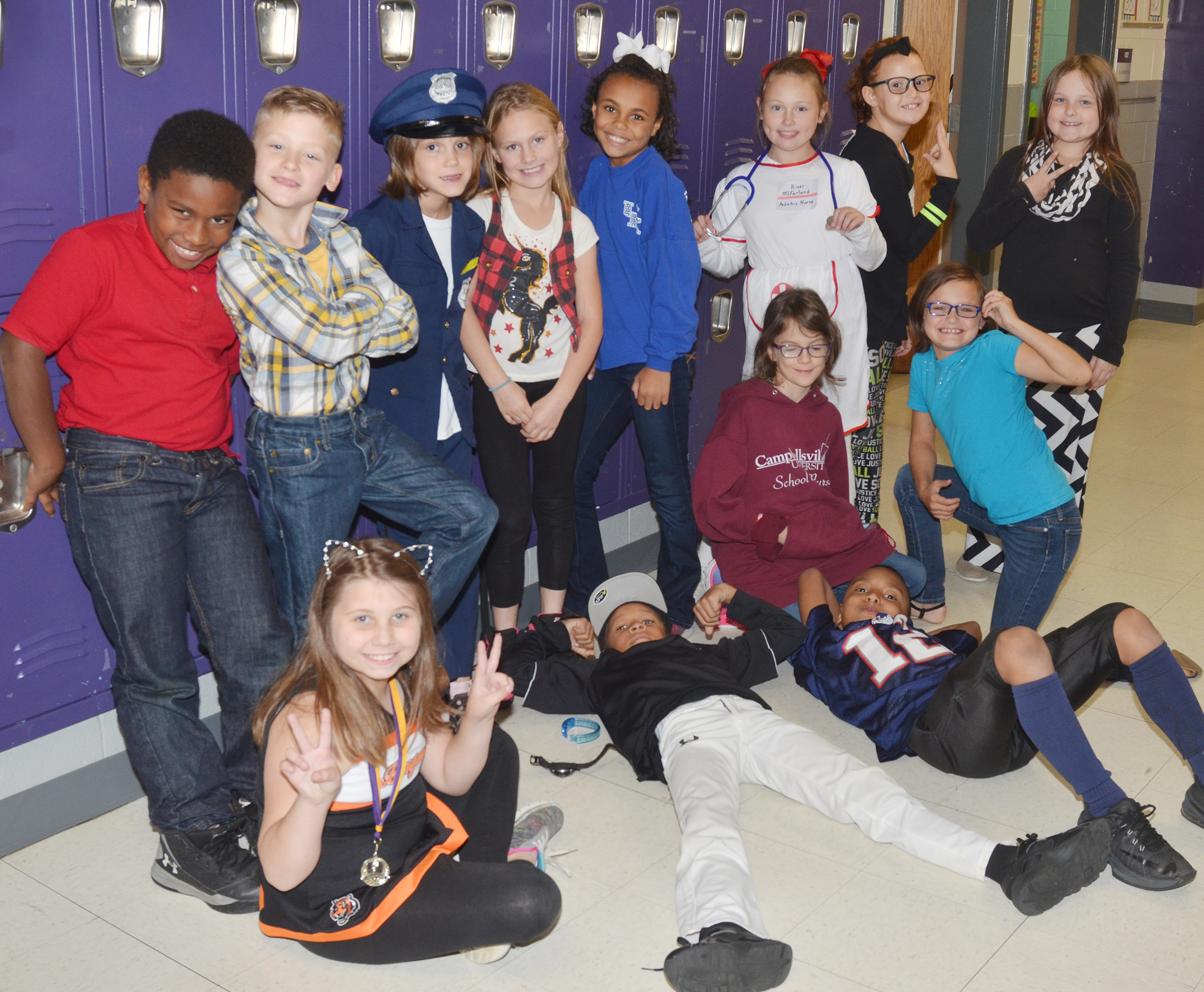 CES students dress for the career they would like to have or the college they support, knowing that, if they are drug free, they can do and be anything they want.
