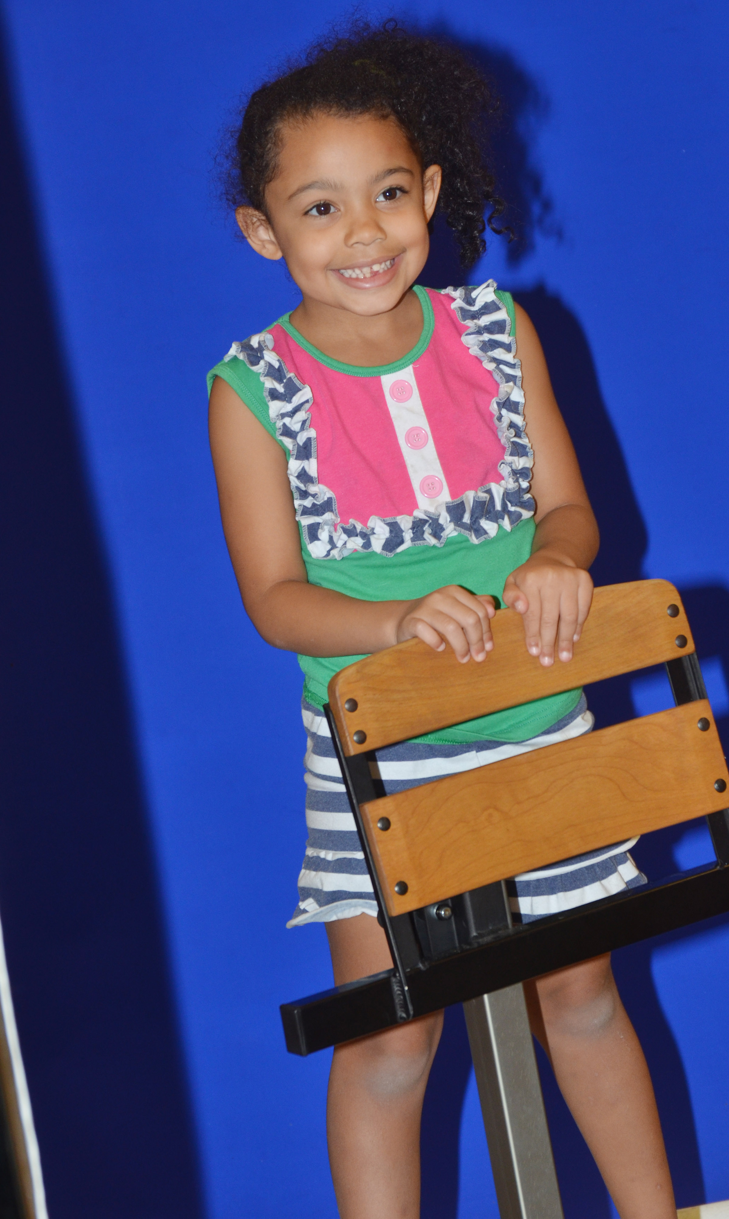 CES kindergartener Rylee Karr smiles for her photo.