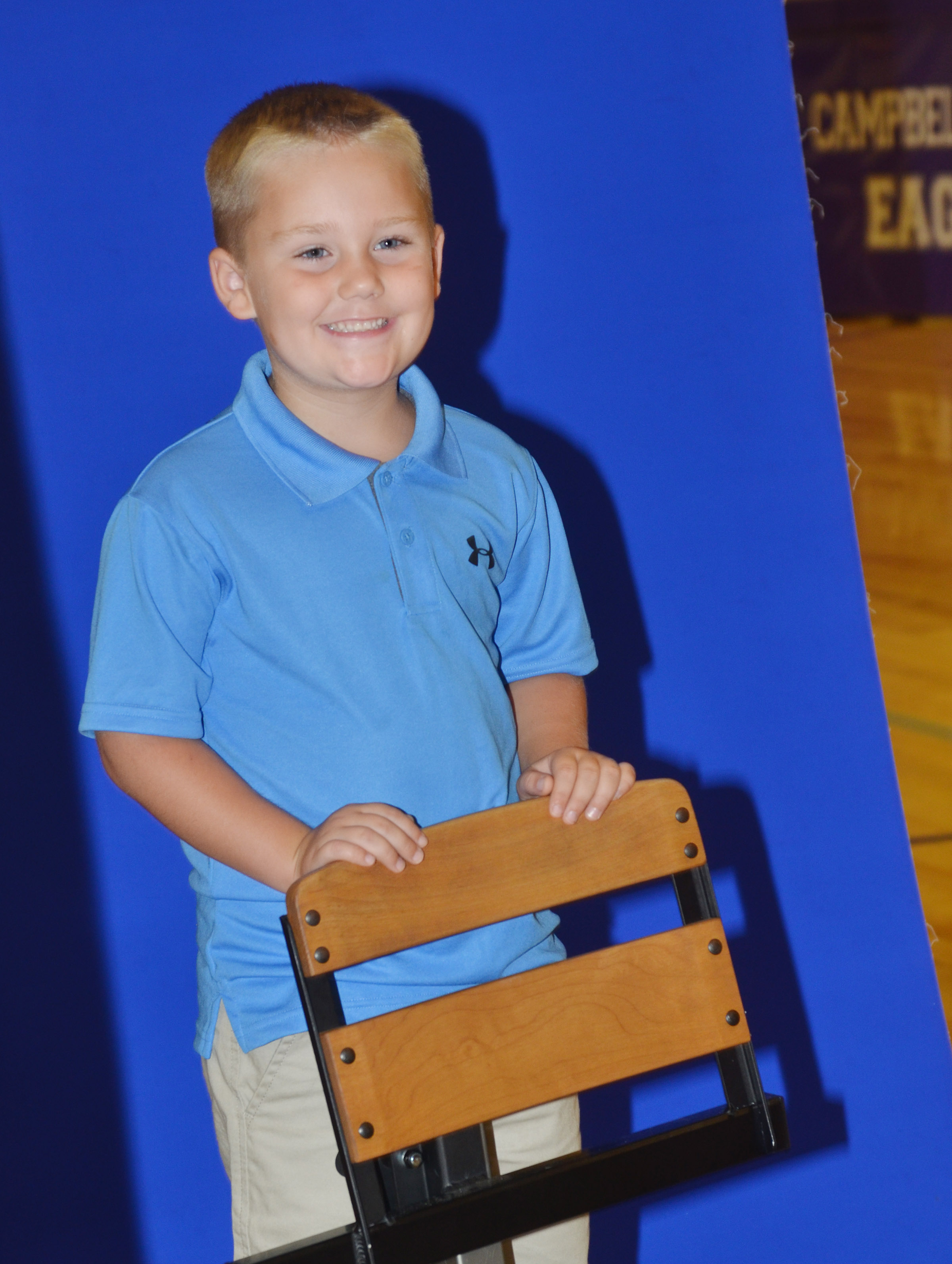 CES kindergartener Jacob Sandidge smiles.