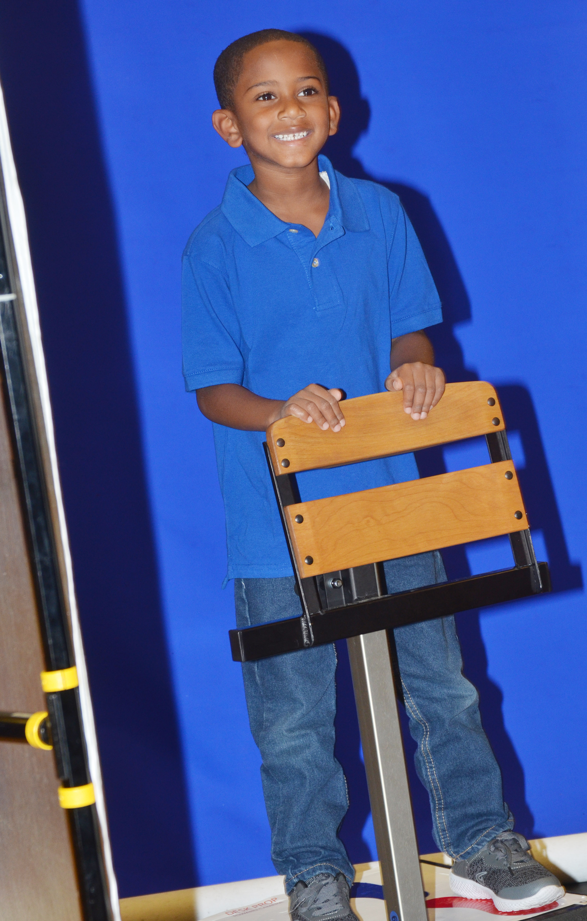 CES first-grader Kasen Smith smiles for his photo.