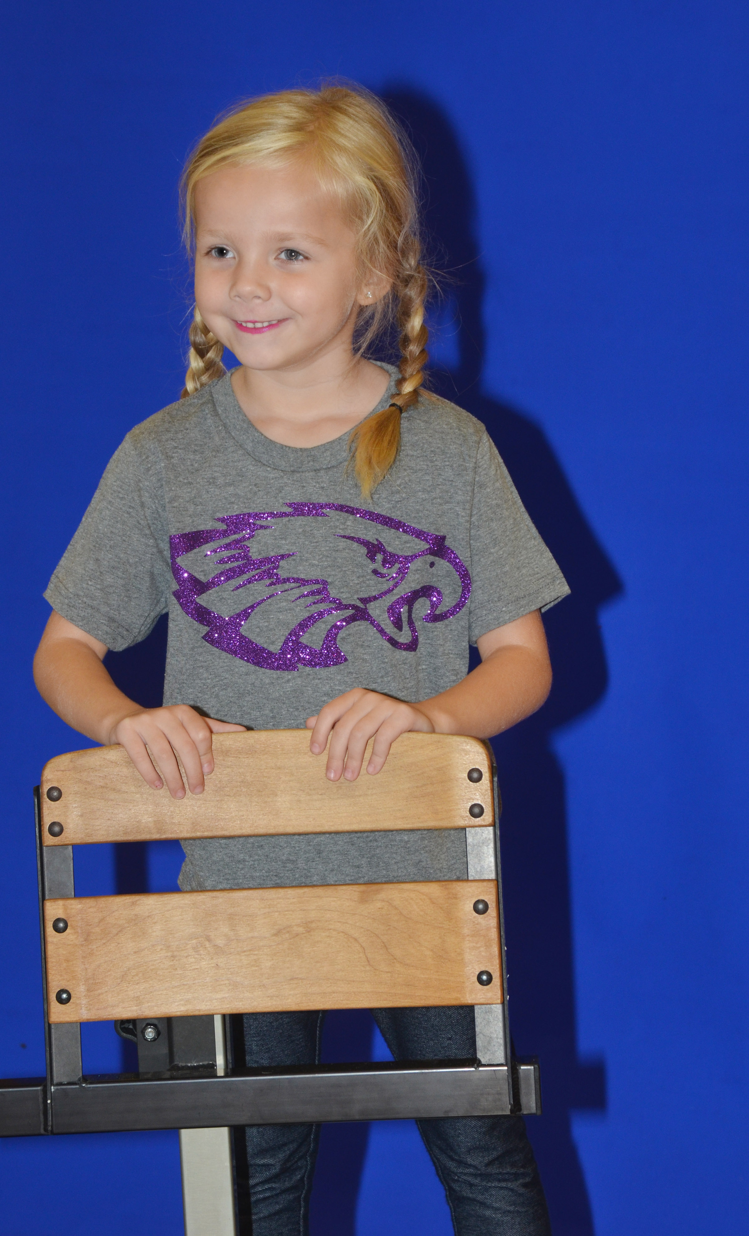 CES kindergartener Trinidy Gribbins smiles for her photo.