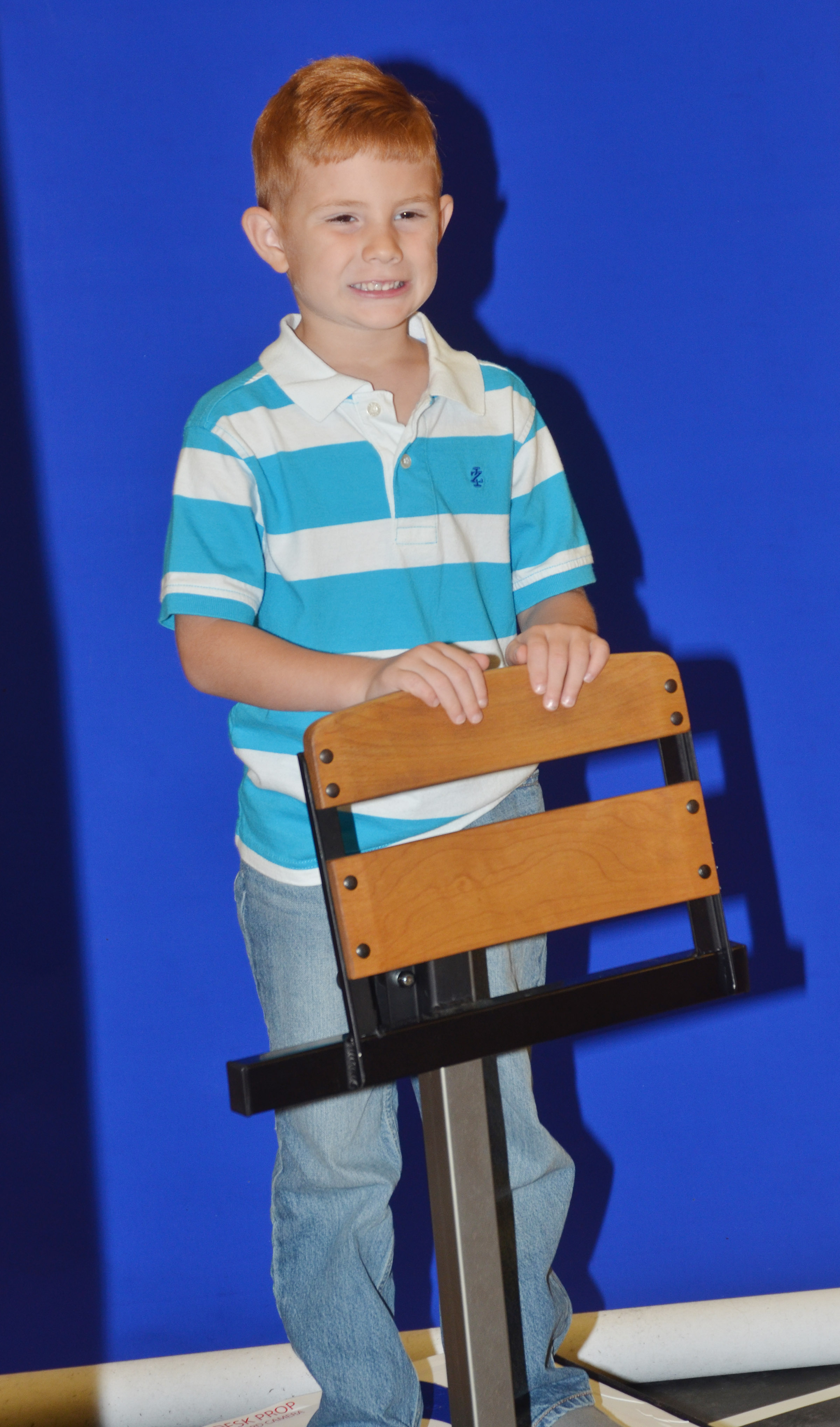 CES kindergartener Kennon Dotson smiles for his photo.