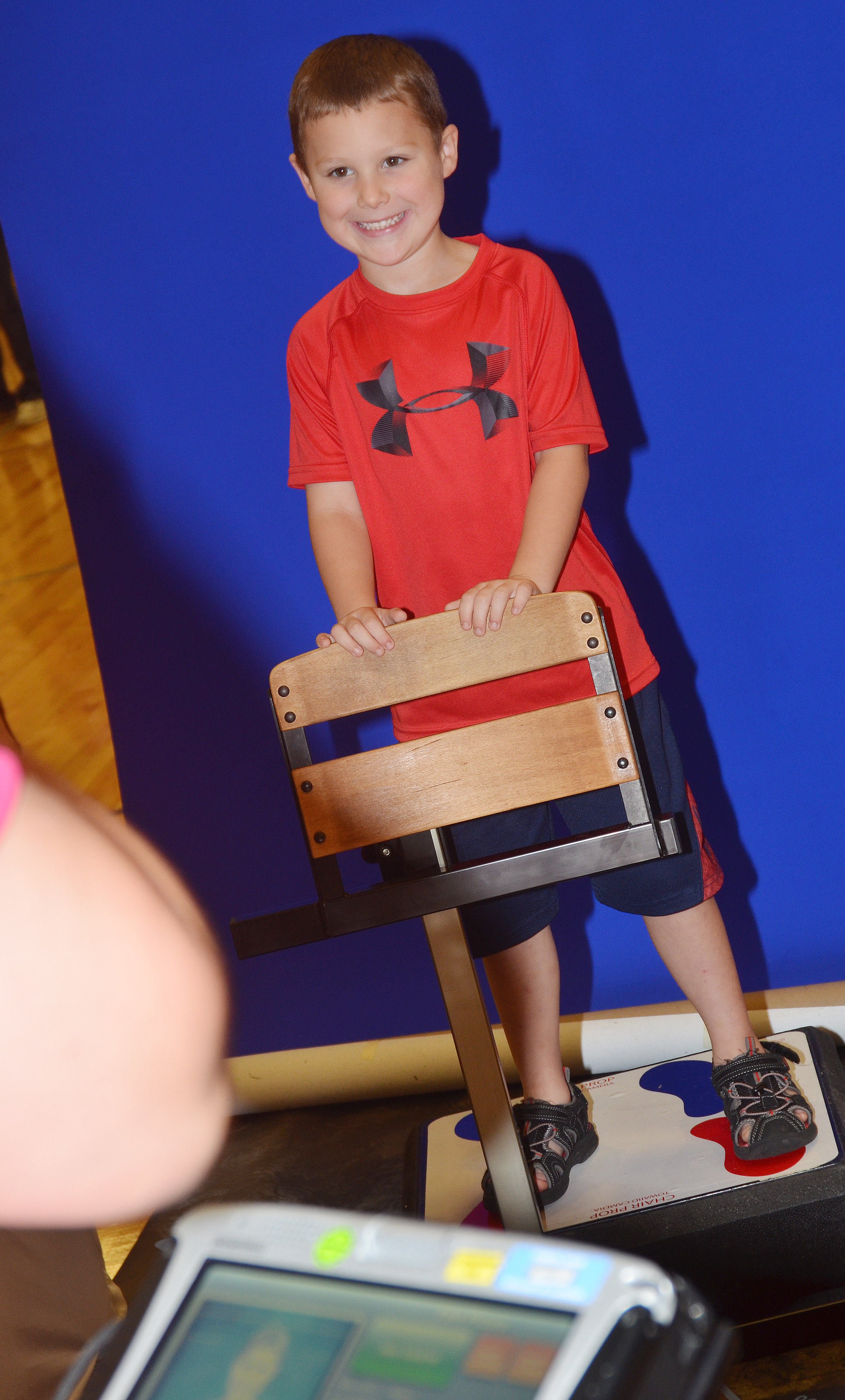 CES kindergartener Kyler Wilson smiles for the camera.