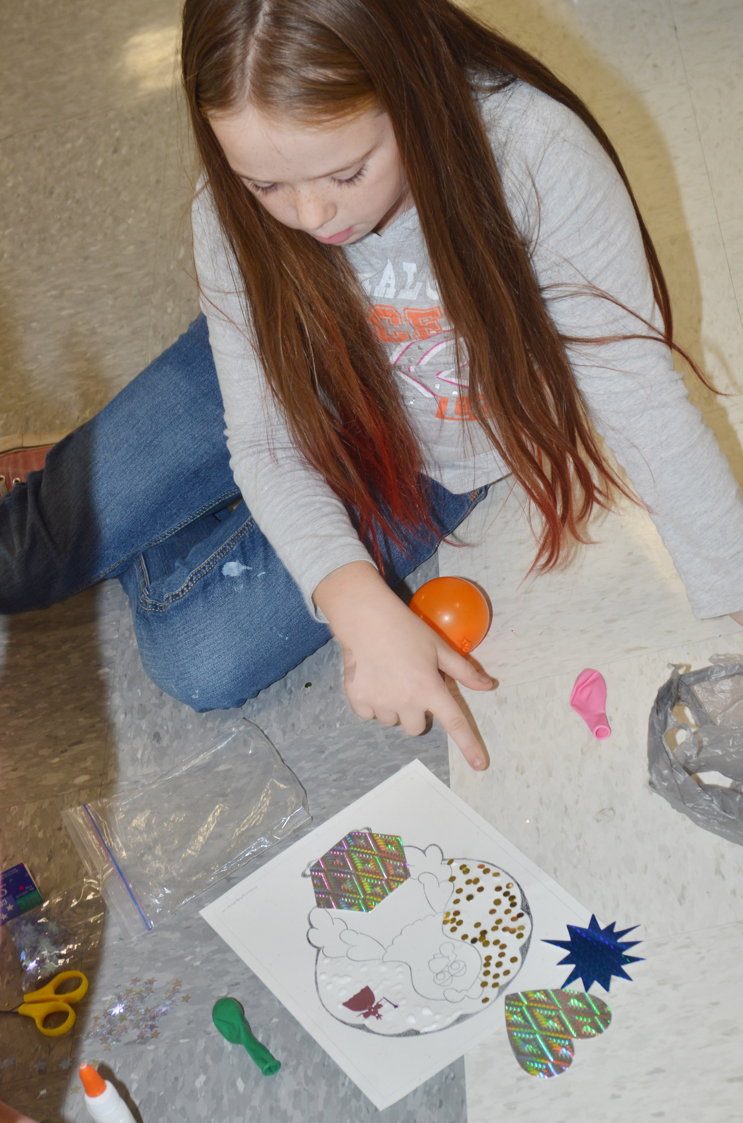 CES third-grader Cayleigh Underwood disguises her turkey as a rock star.