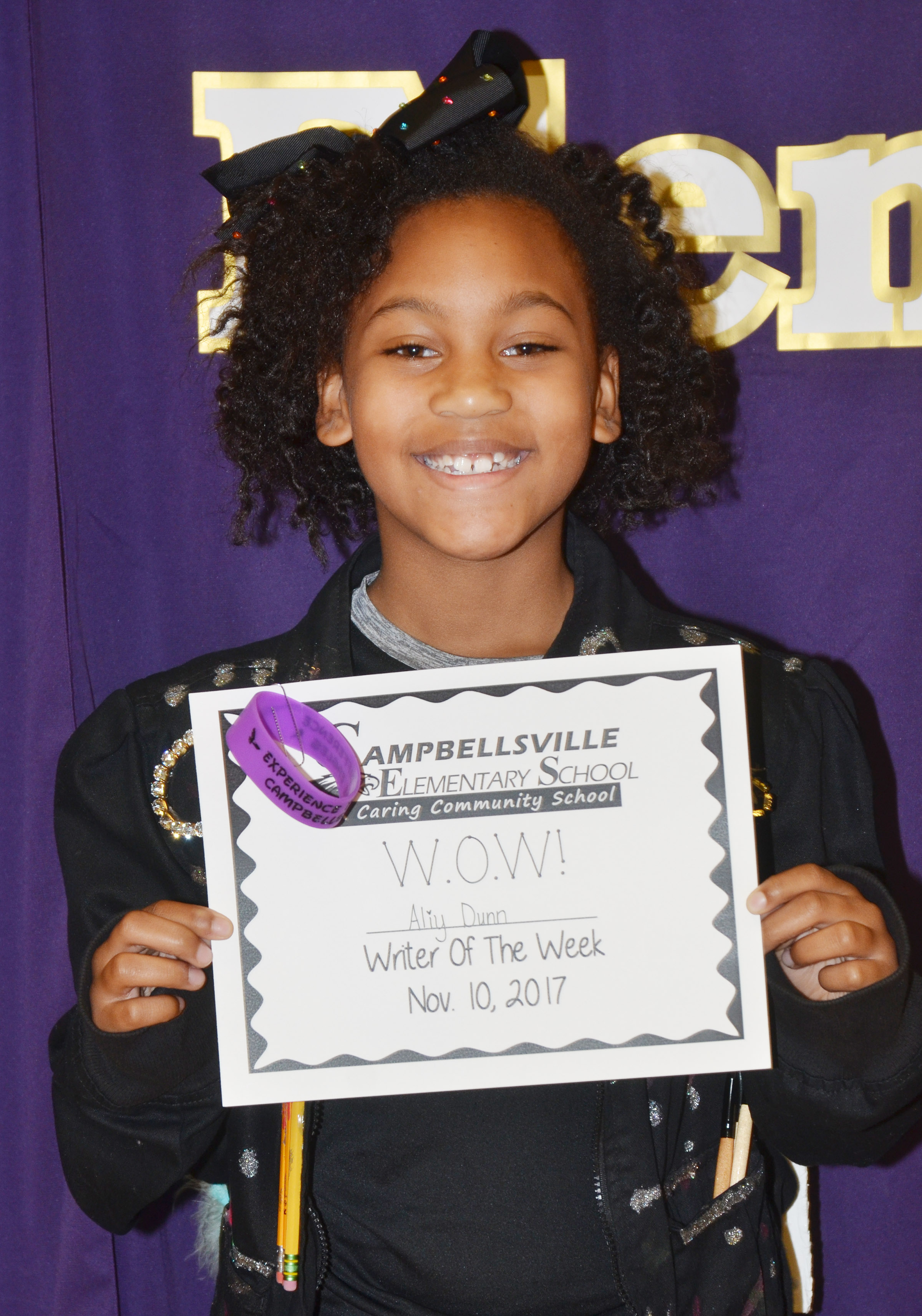 CES second-grader Ally Dunn is her school's Writer of the Week for the week of Nov. 6.
