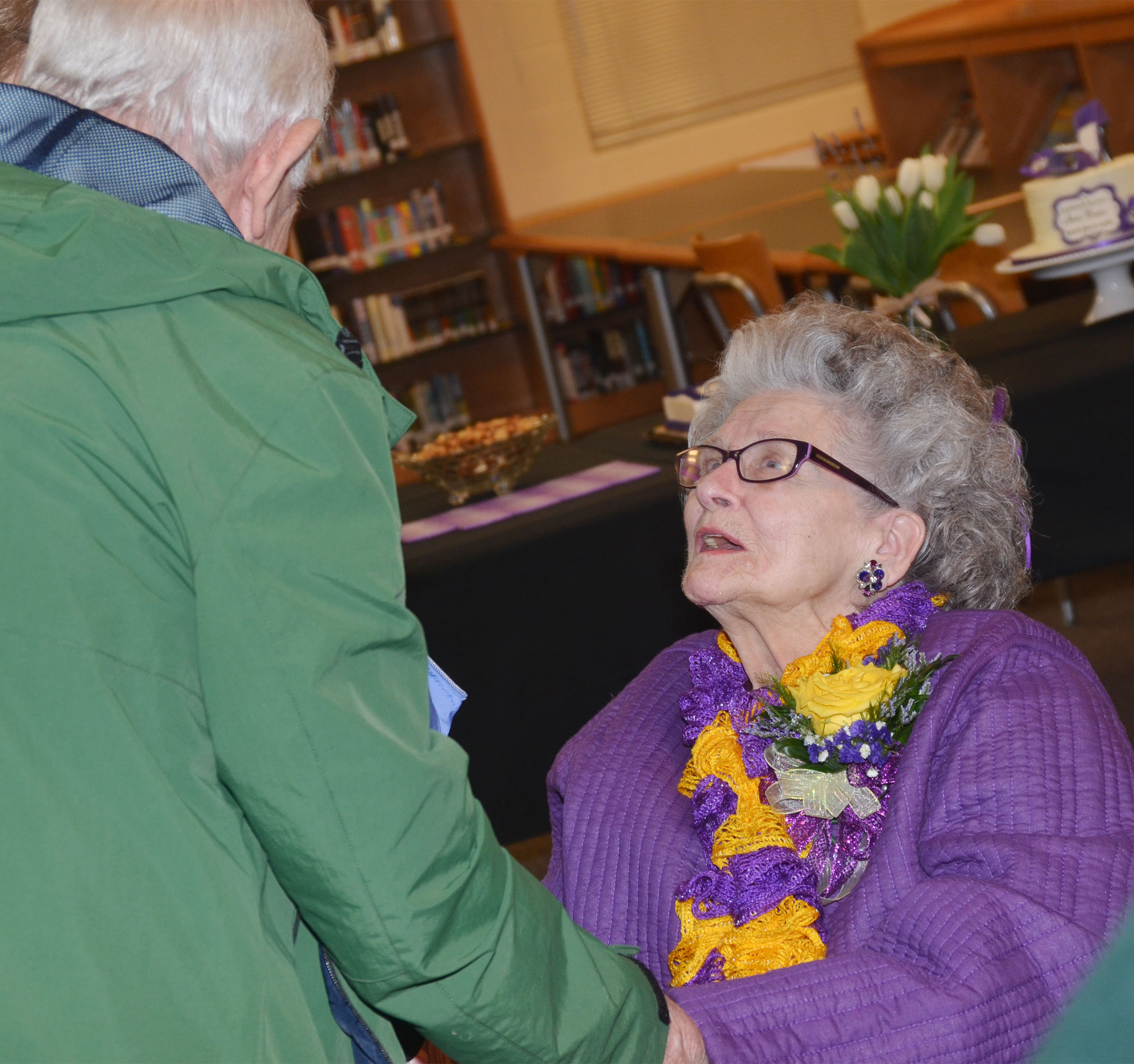 Former CHS employee Anne Fraim was recently honored with a reception after the CHS media center was named Anne Fraim Media Center.
