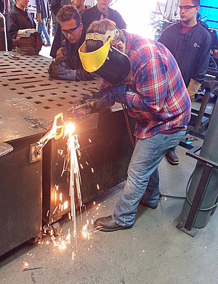 CHS junior Quentin Skaggs learns to weld at the Green County Area Technology Center.