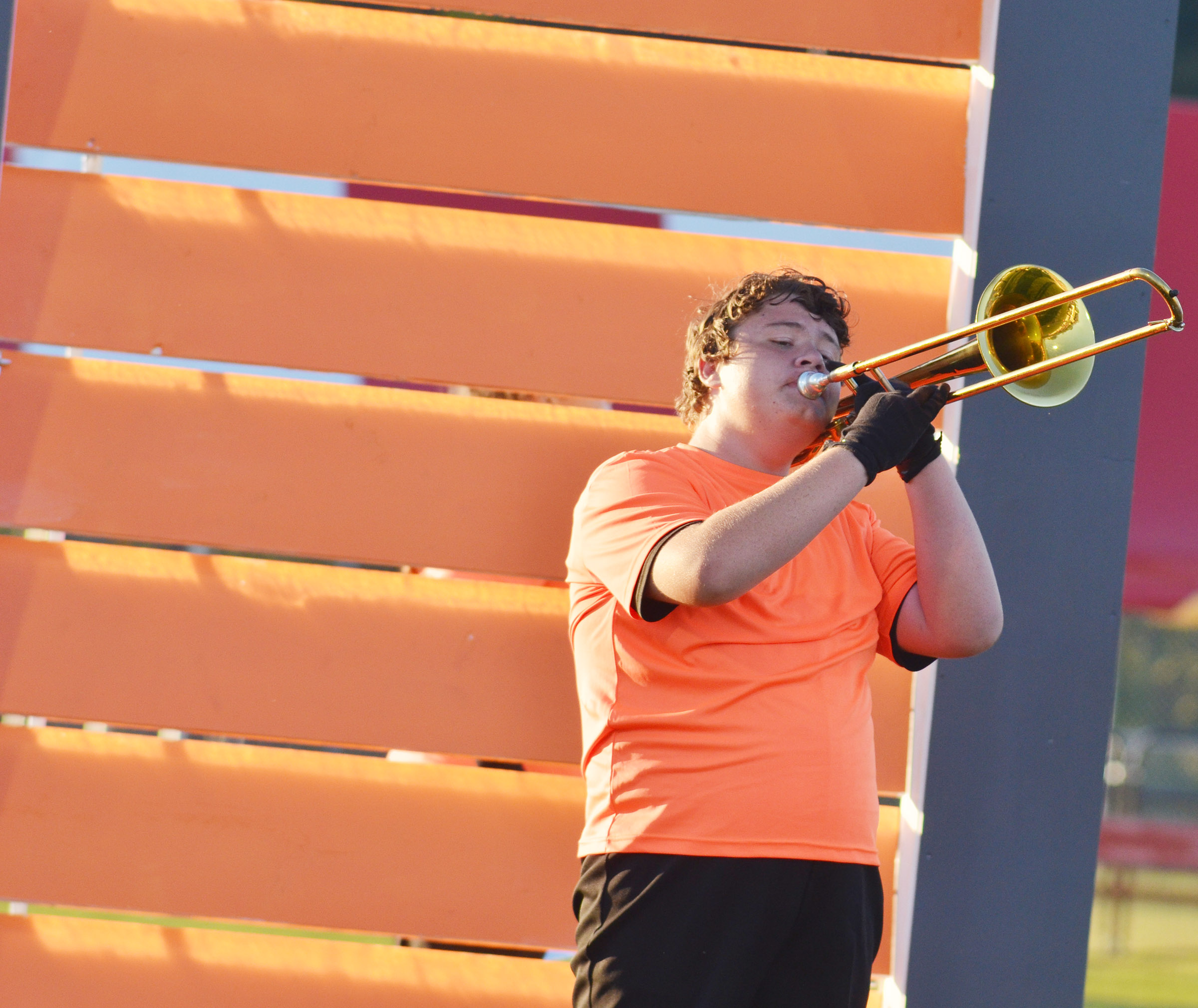 CHS sophomore Conner Riley performs.