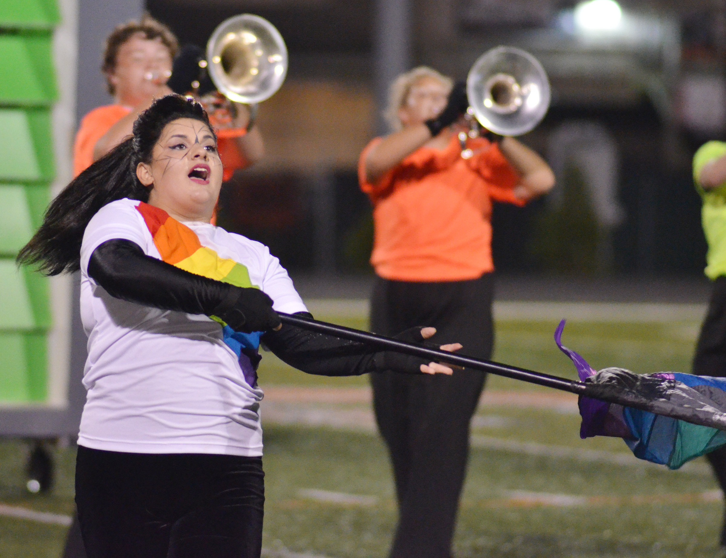 CHS sophomore Brandy Miller performs.
