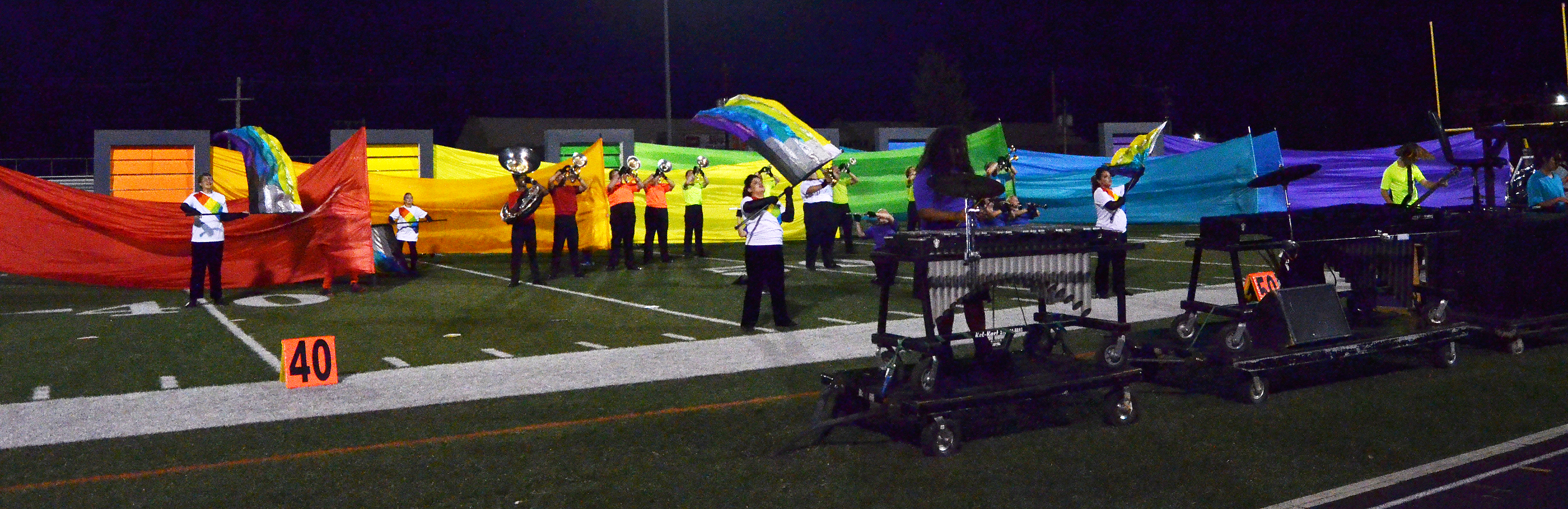 CHS band members perform at the end of their show.