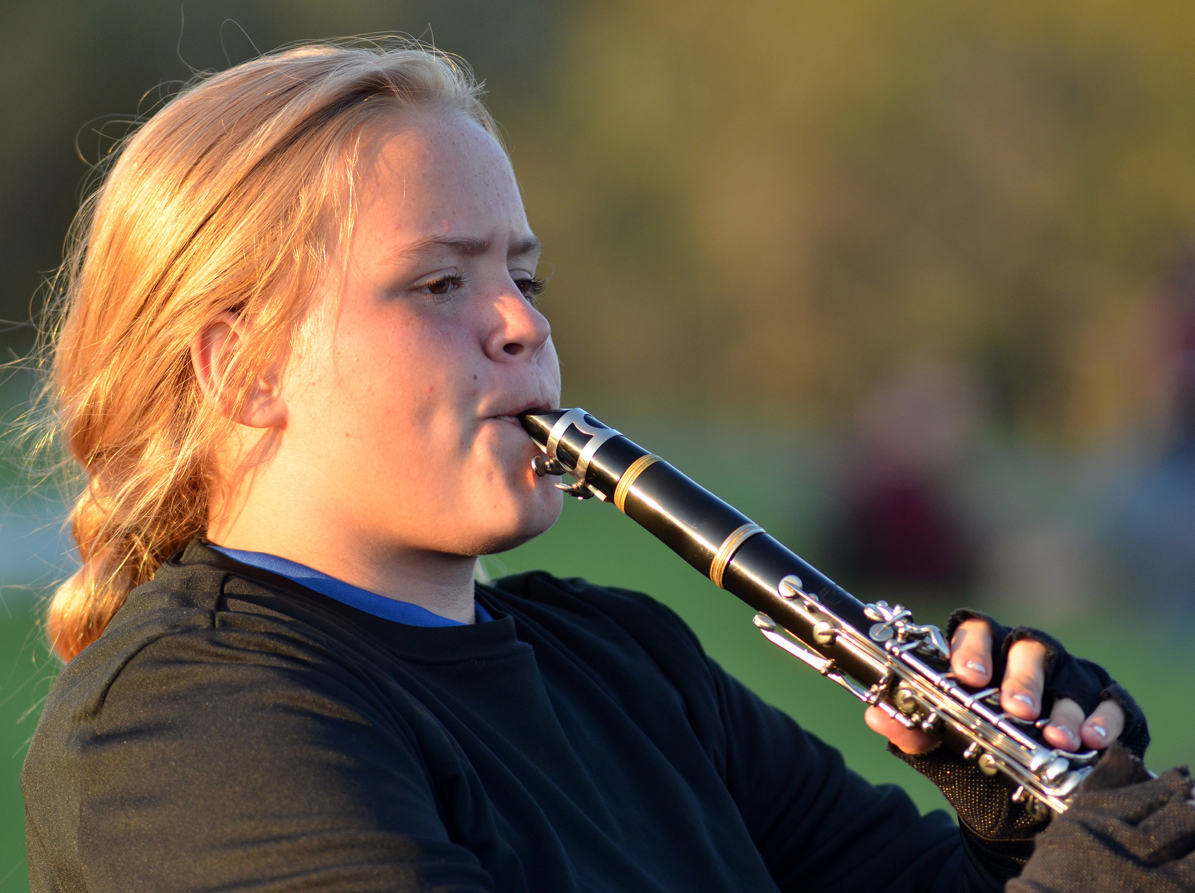 CHS freshman Riley Rainwater plays clarinet.