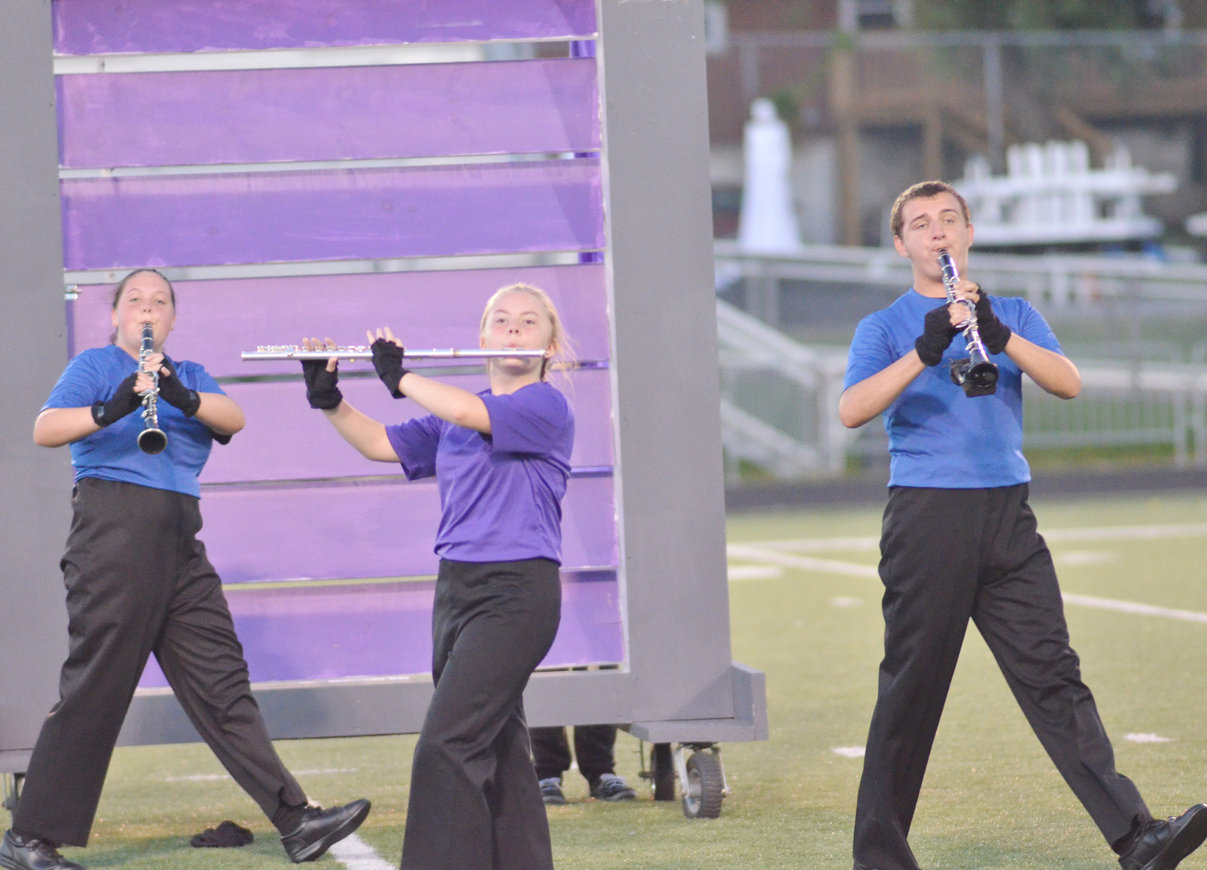 From left, CHS junior Ruby Hatfield, freshman Emily Hayden and senior Austin Fitzgerald perform.