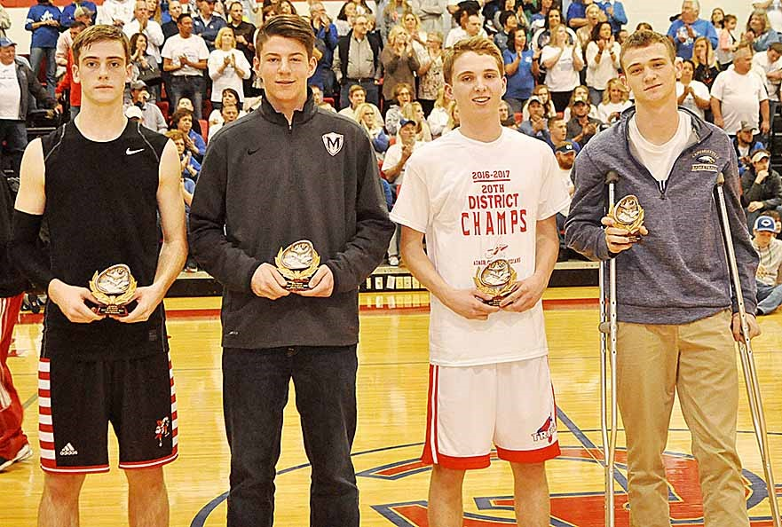 CHS junior Connor Wilson, at right, was named to the 20th District all-academic team.