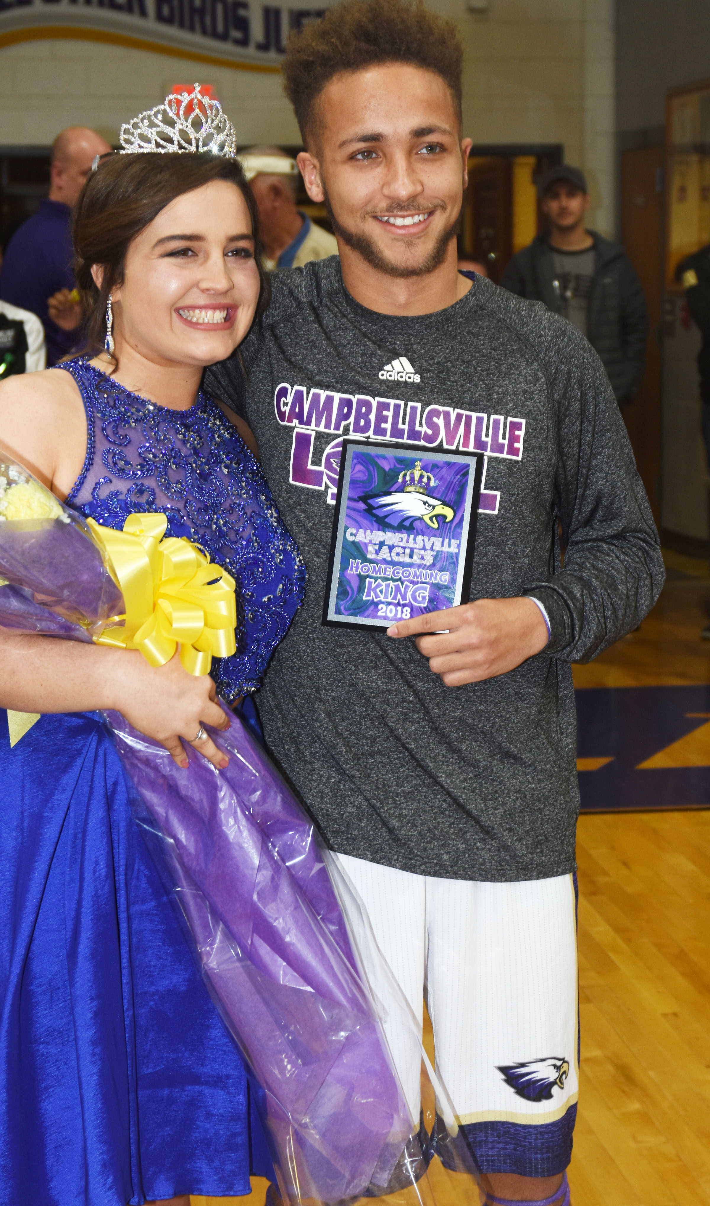 CHS seniors Caitlin Bright and Ethan Lay were named this year's basketball homecoming queen and king.