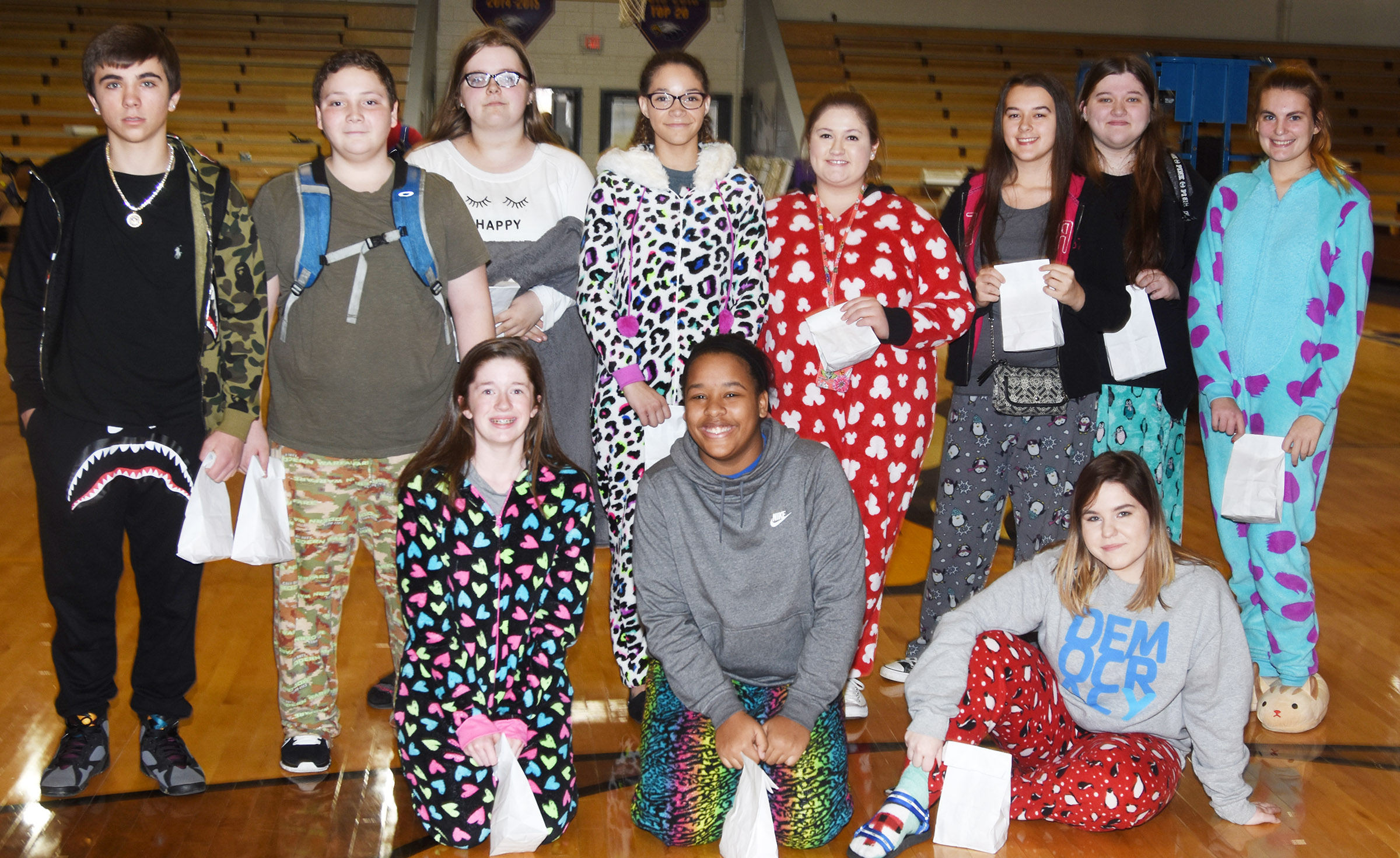 CHS students are chosen as winners for Roll Out of Bed Day.