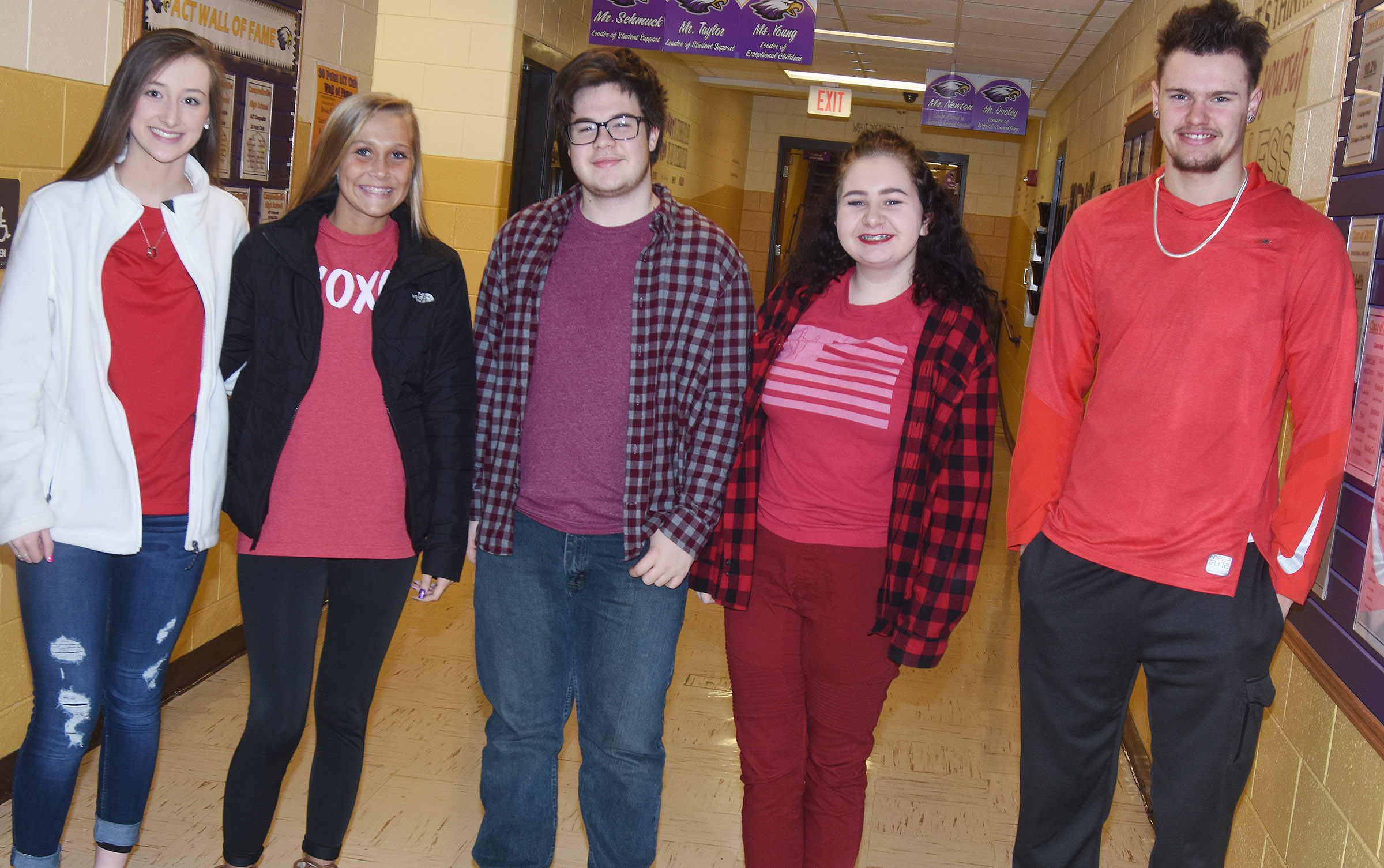 CHS students dress for Stoplight Day.