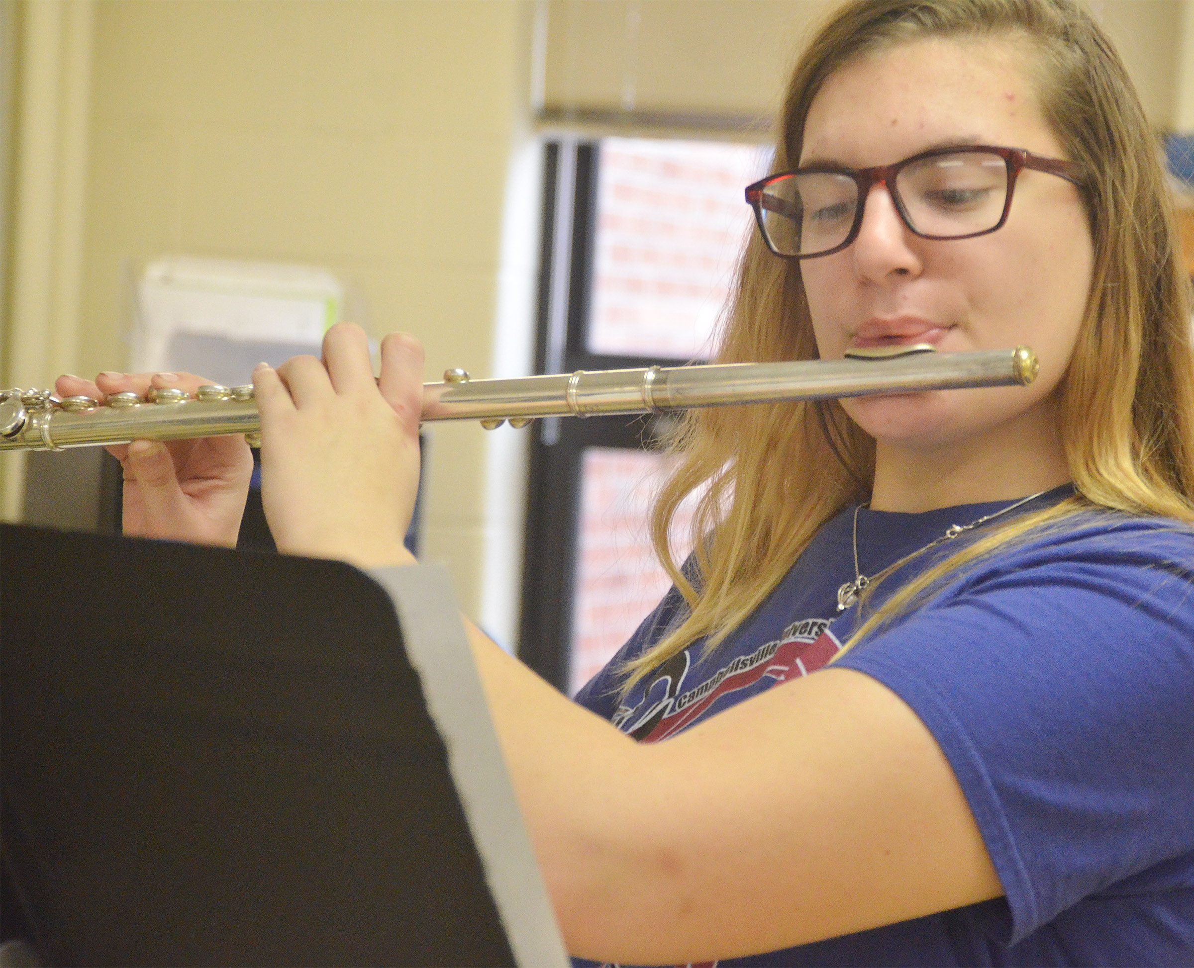 CHS junior Tiffany Kane plays flute.