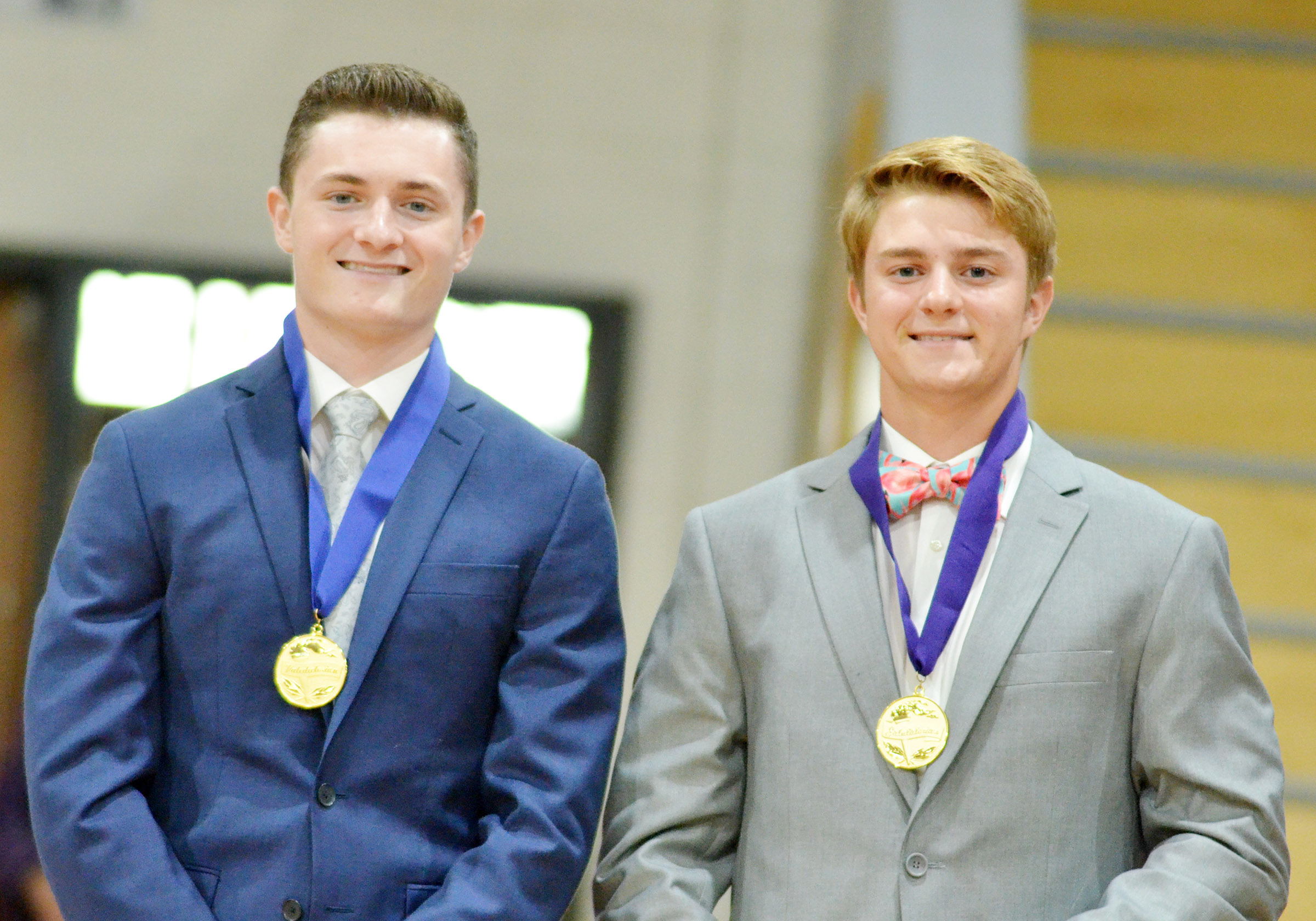 CHS Class of 2018 valedictorian and salutatorian are Bryce Richardson, at left, and Alex Doss, respectively.