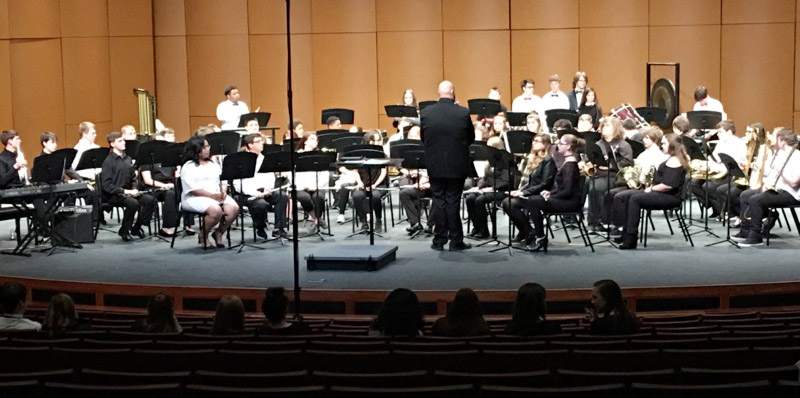 CHS concert band members perform during KMEA assessment.