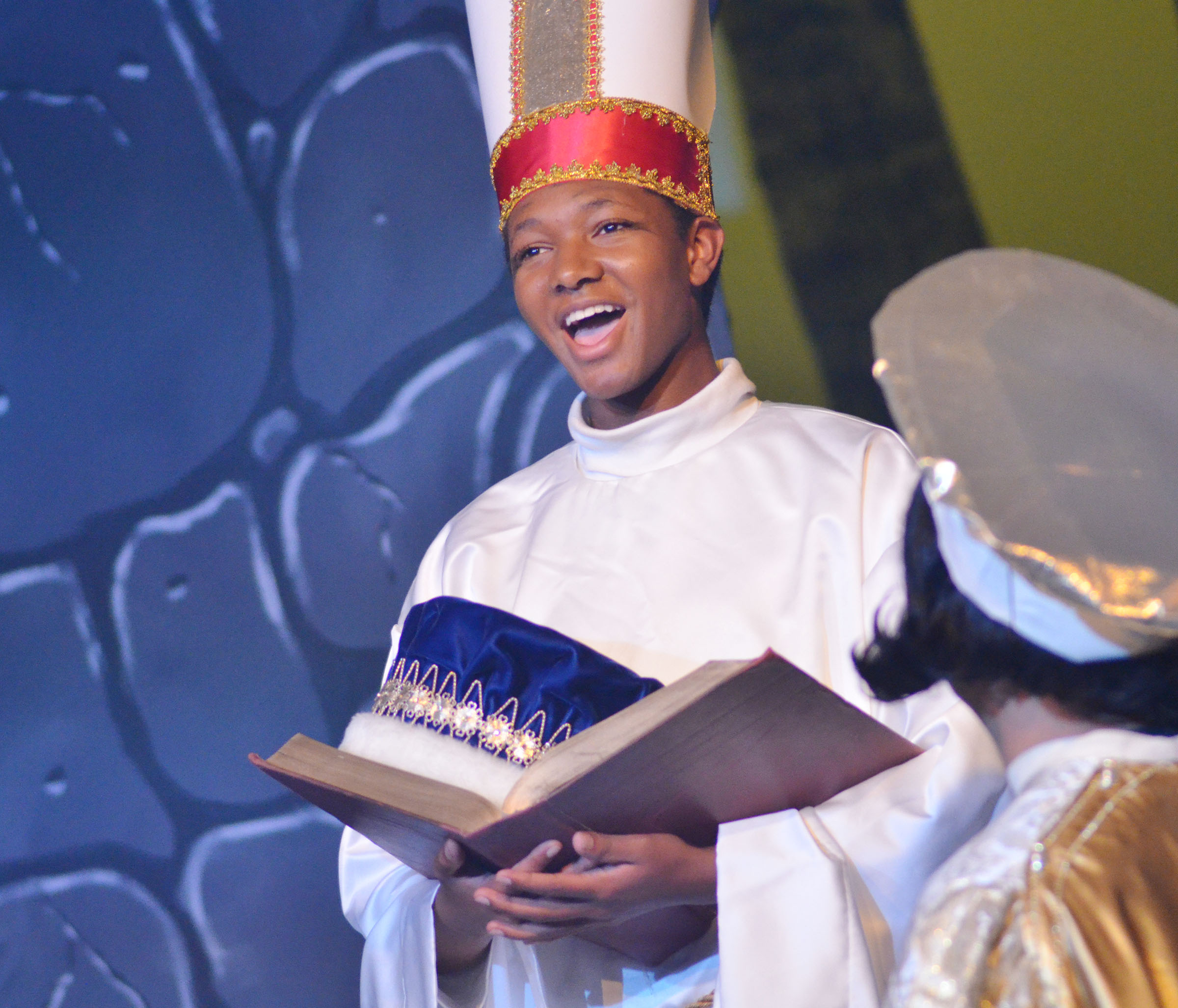 "Campbellsville High School graduate Jaleel Cowan shines in the production of ""Shrek the Musical"" at Campbellsville University. He portrays a guard and a bishop."