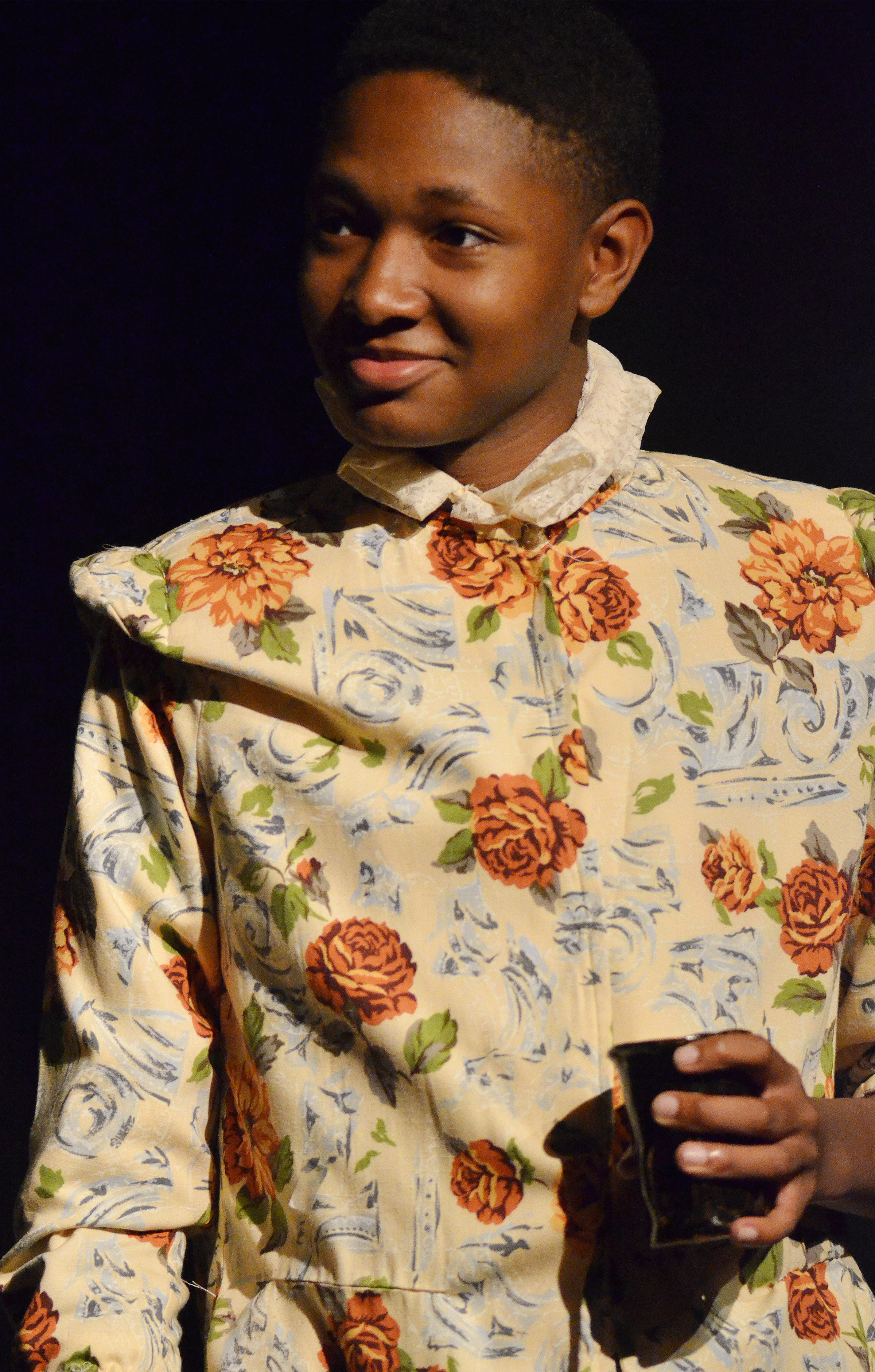 "CHS senior Jaleel Cowan portrays Nym in the Campbellsville University production of ""The Merry Wives of Windsor."""