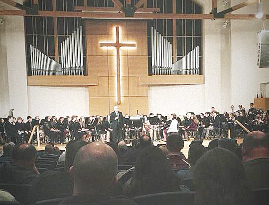 Campbellsville High School band students recently participated in the Campbellsville University Honors Band program, and the group performed on Friday, Feb. 16, to showcase their work.