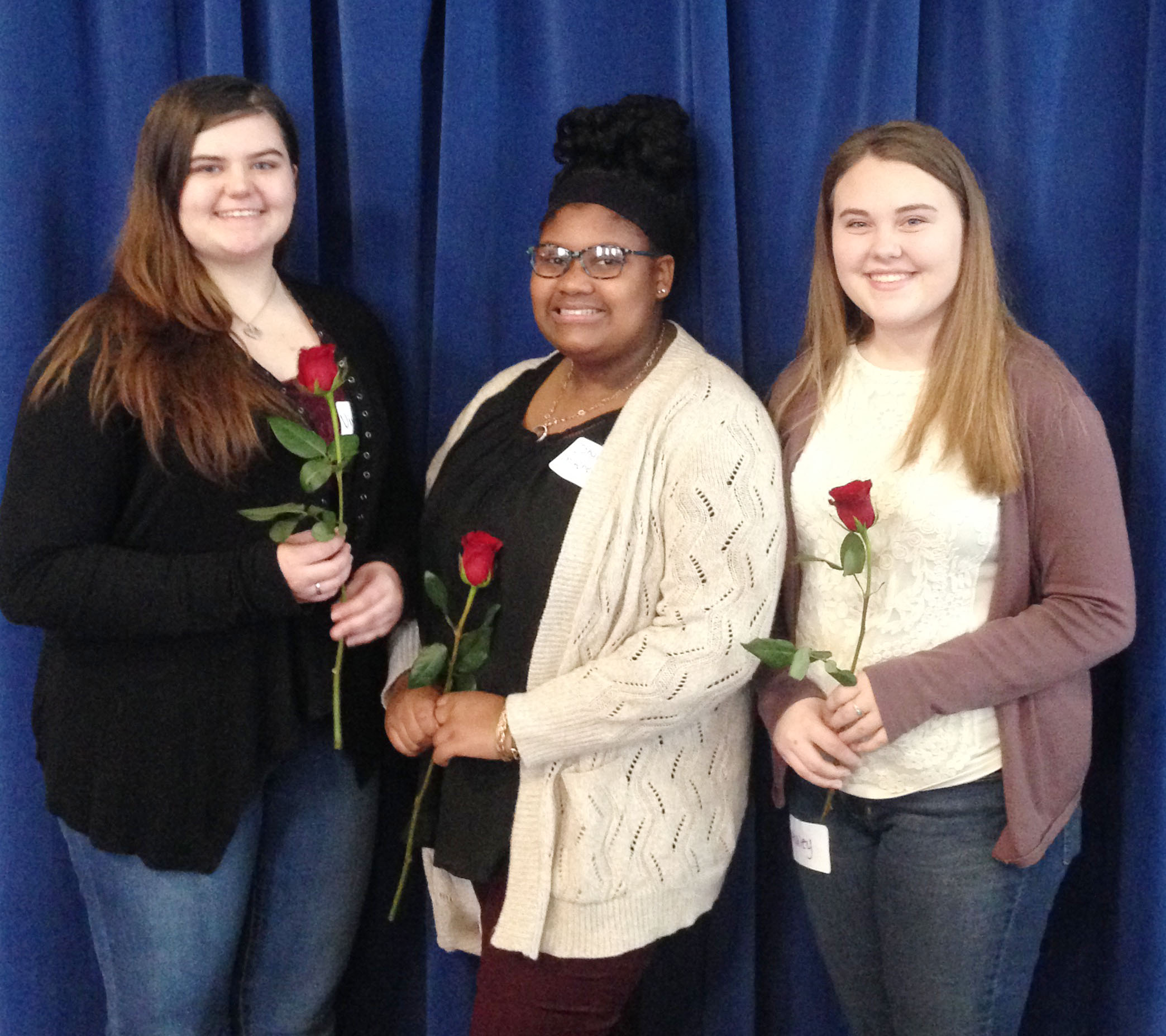 Three CHS FCCLA students were recently elected to serve as region officers. Those elected include, from left, are junior Vivian Brown, who will serve as vice president of parliamentary law; freshman Jakyia Mitchell, who is vice president of community service; and junior Haley Fitch, who will serve as vice president of individual programs.