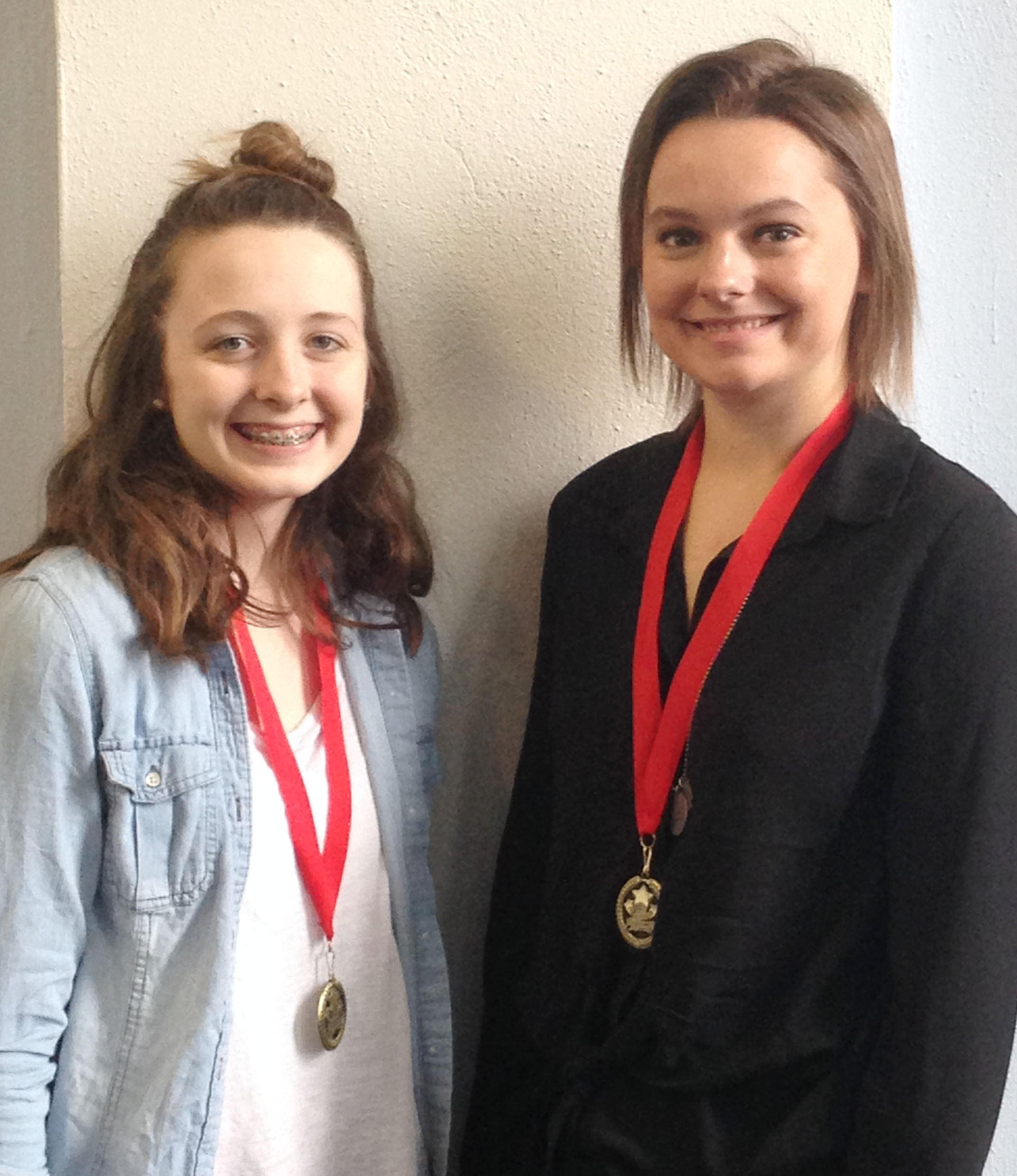 CHS freshman Caleigh Bright, at left, and senior Kyrsten Hill will compete in STAR Events at next week's Kentucky FCCLA state convention in Louisville. They will deliver presentations about nutrition.