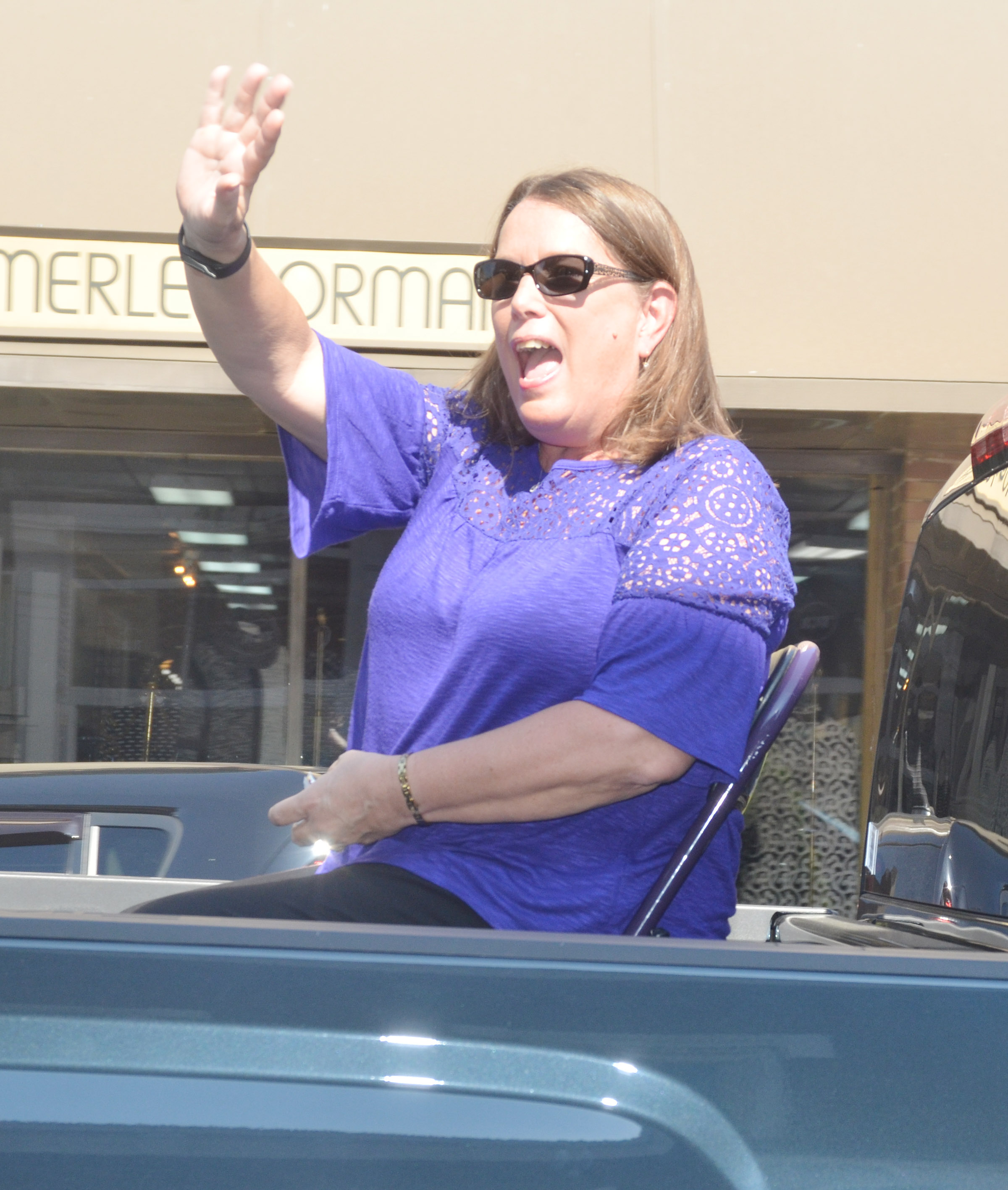 Kay Cox is the grand marshal for the parade.