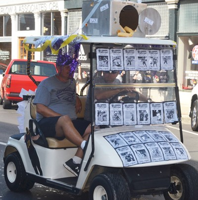 CIS students, staff members partite in homecoming parade ... on shooting cart, football side by side, football tools, fishing cart, football plow, football grill, football golf ball, football golf sign, football team cake pops, football food,