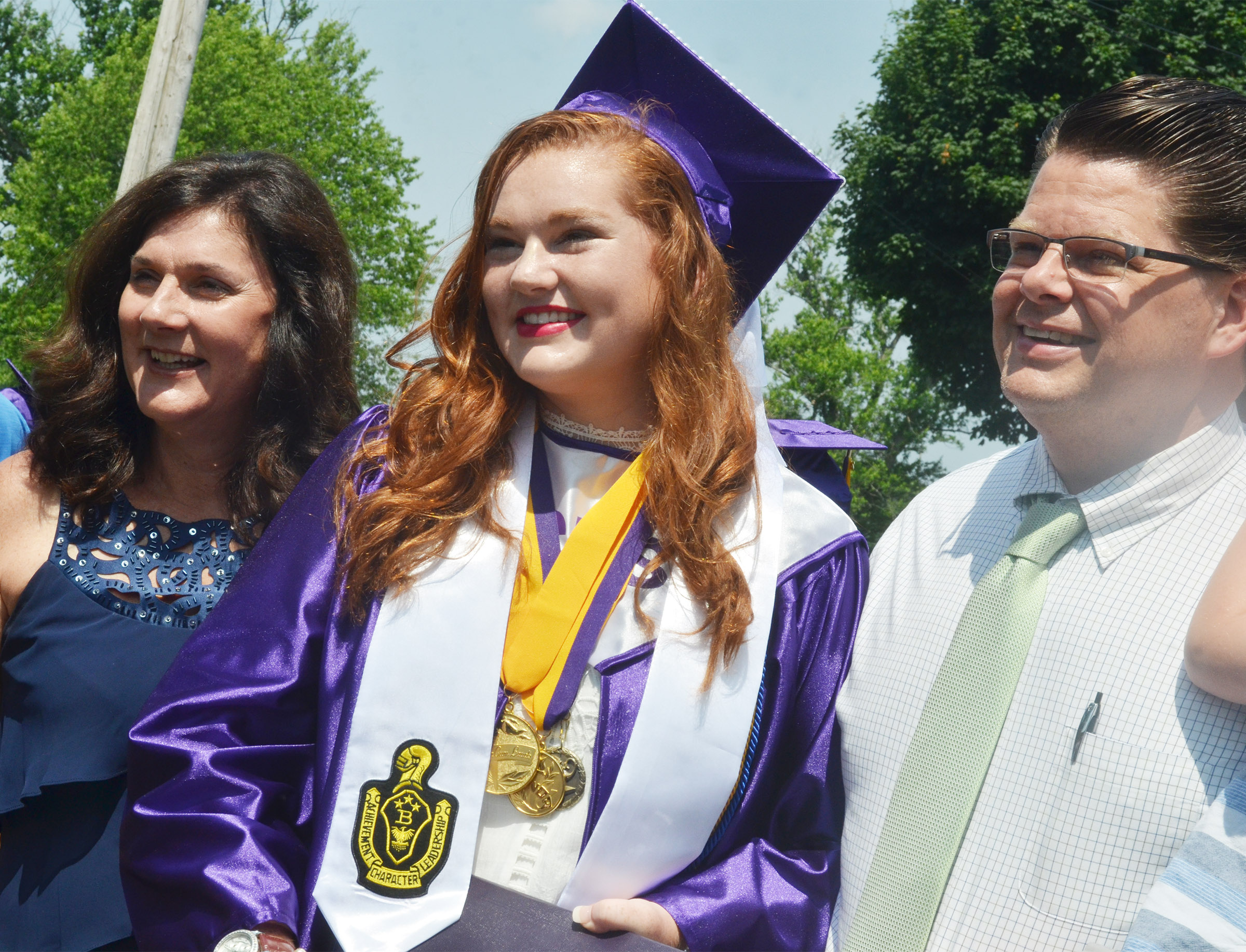 CHS graduate Mallory Haley poses for a photo with her parents, Patty and Dr. Arthur Haley.
