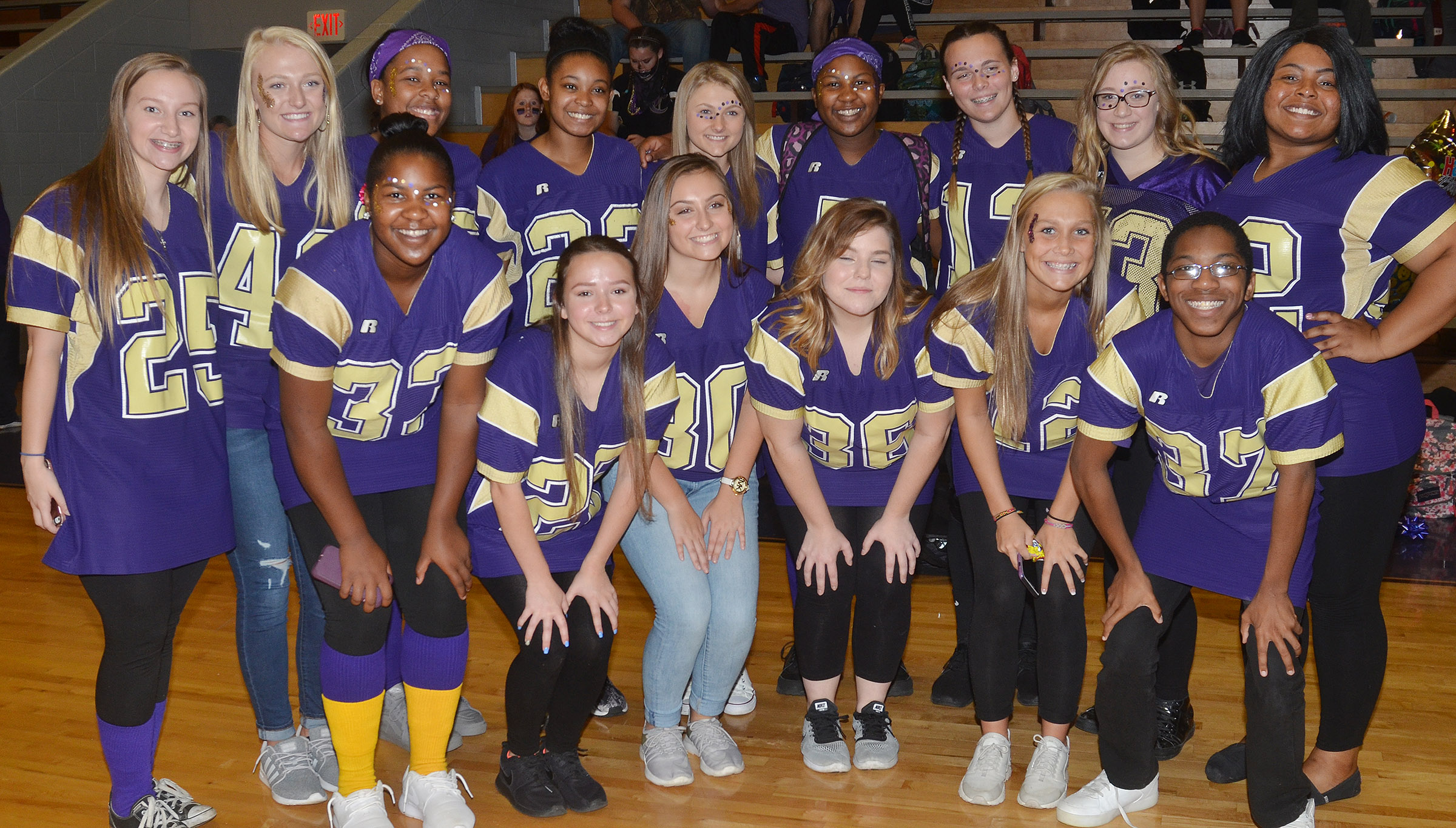 CHS students dress for Purple and Gold Day.