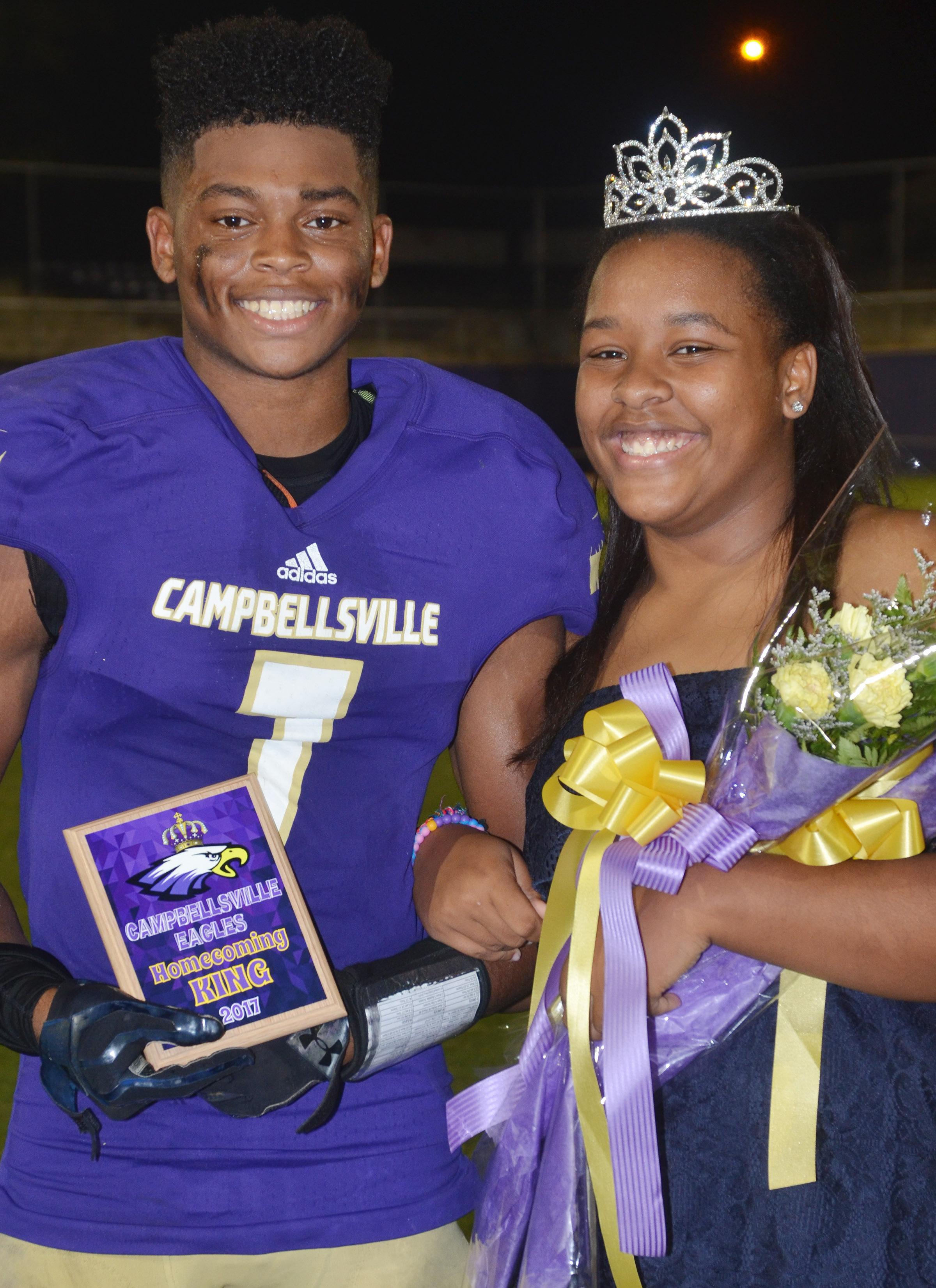 This year's CHS homecoming king and queen are seniors Devonte Cubit and Kayla Young.