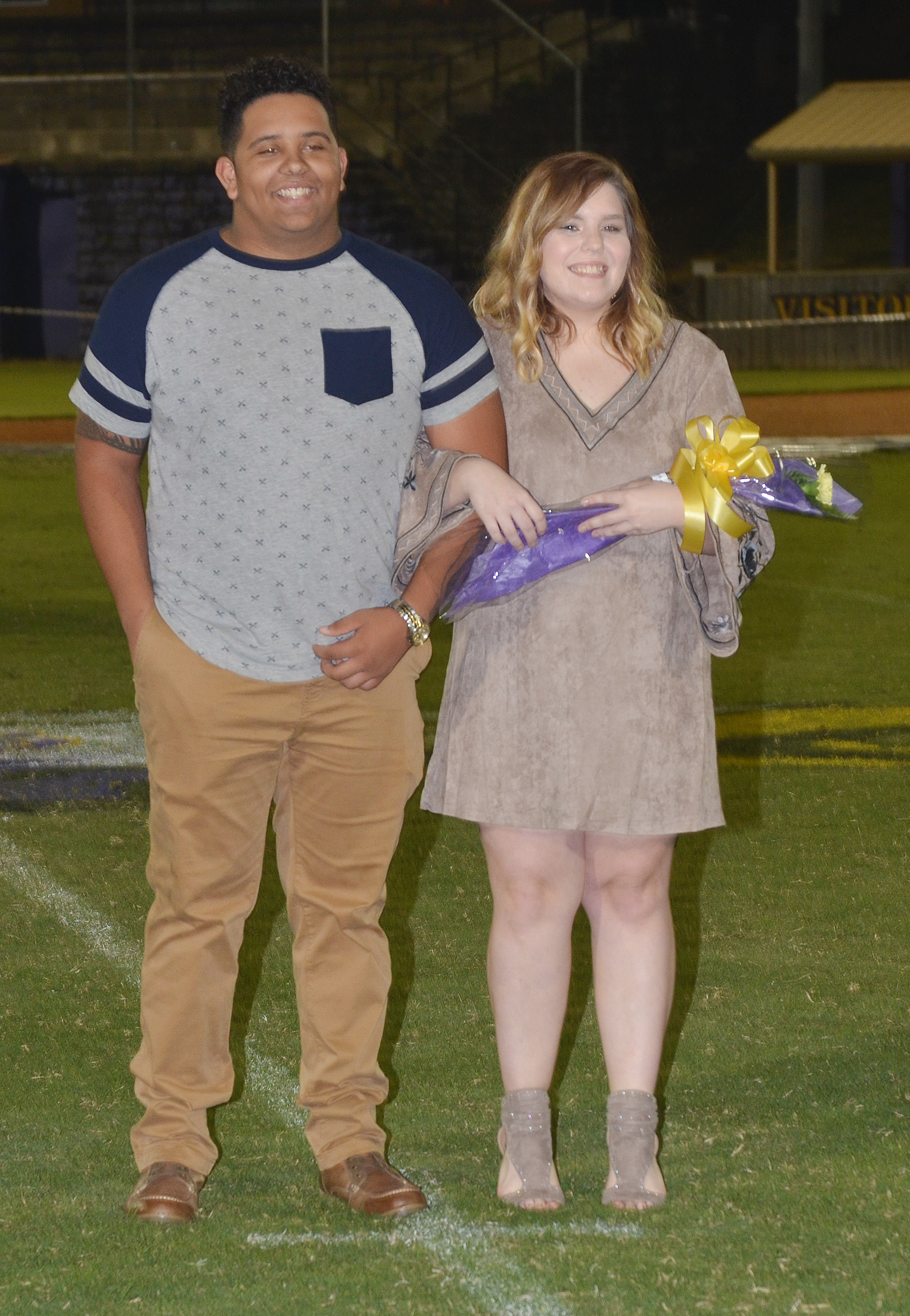 Adrian Cravens and Sara Farmer represent the senior class.