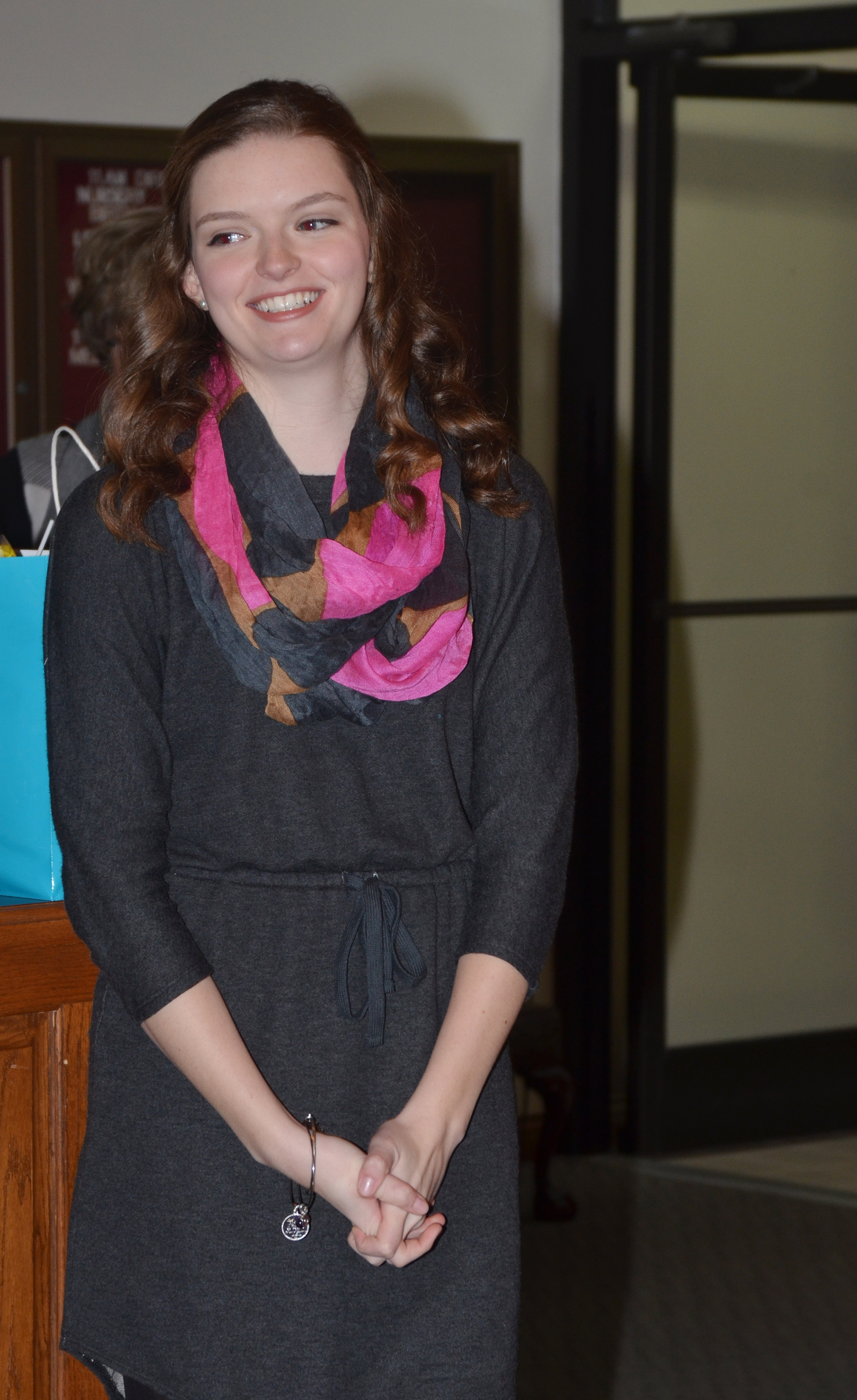 CHS senior Blair Lamb was honored at a reception on Friday, Jan. 6, before she left to compete in the Kentucky Distinguished Young Women competition.