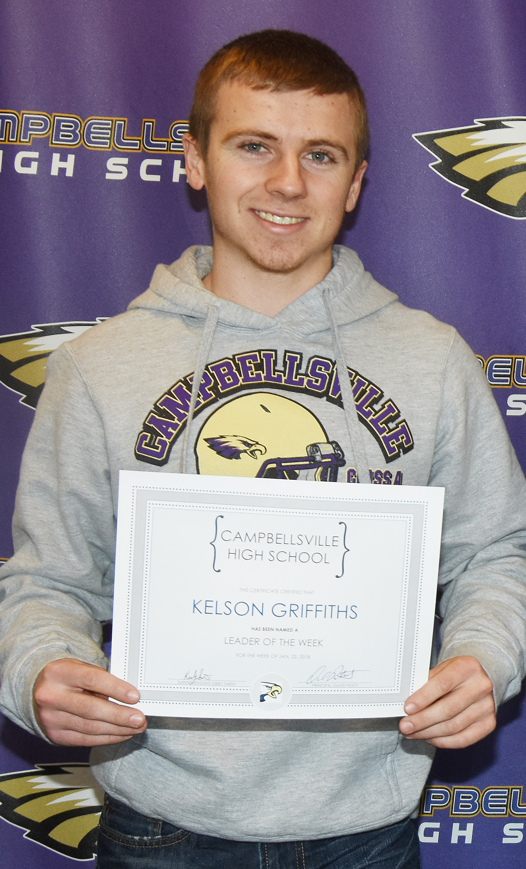 CHS sophomore Kelson Griffiths was named a Leader of the Week for the week of Jan. 22.