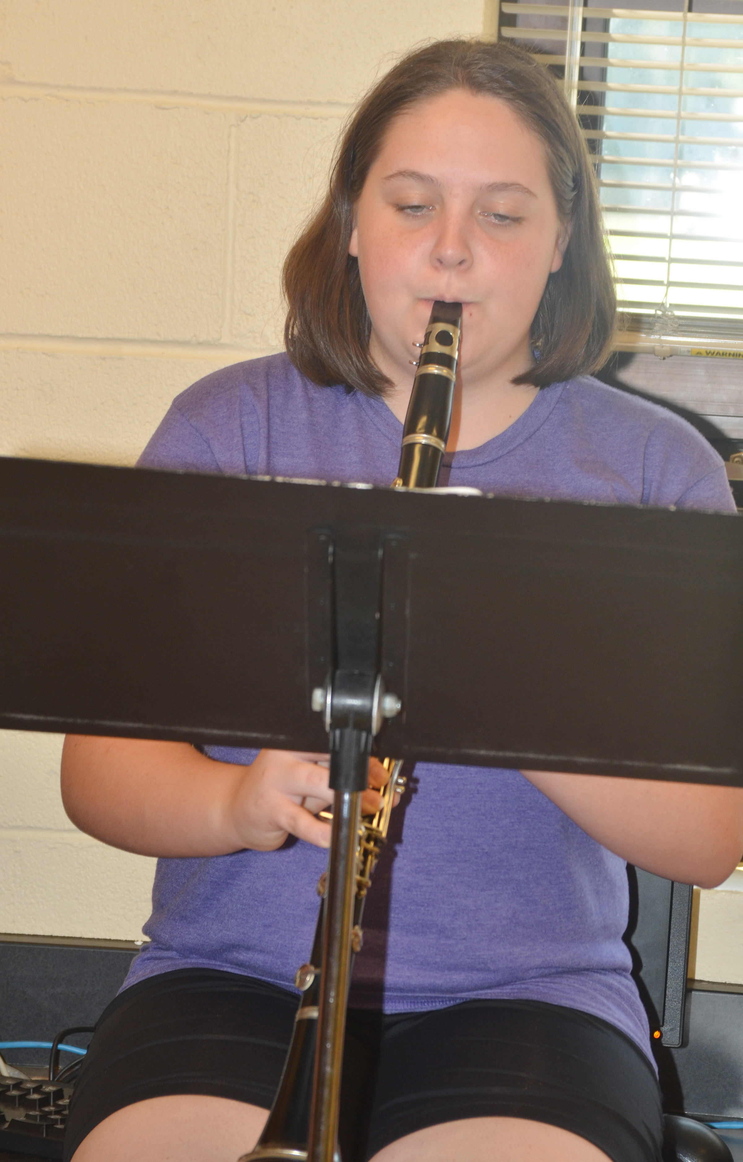 CHS junior Ruby Hatfield plays clarinet.