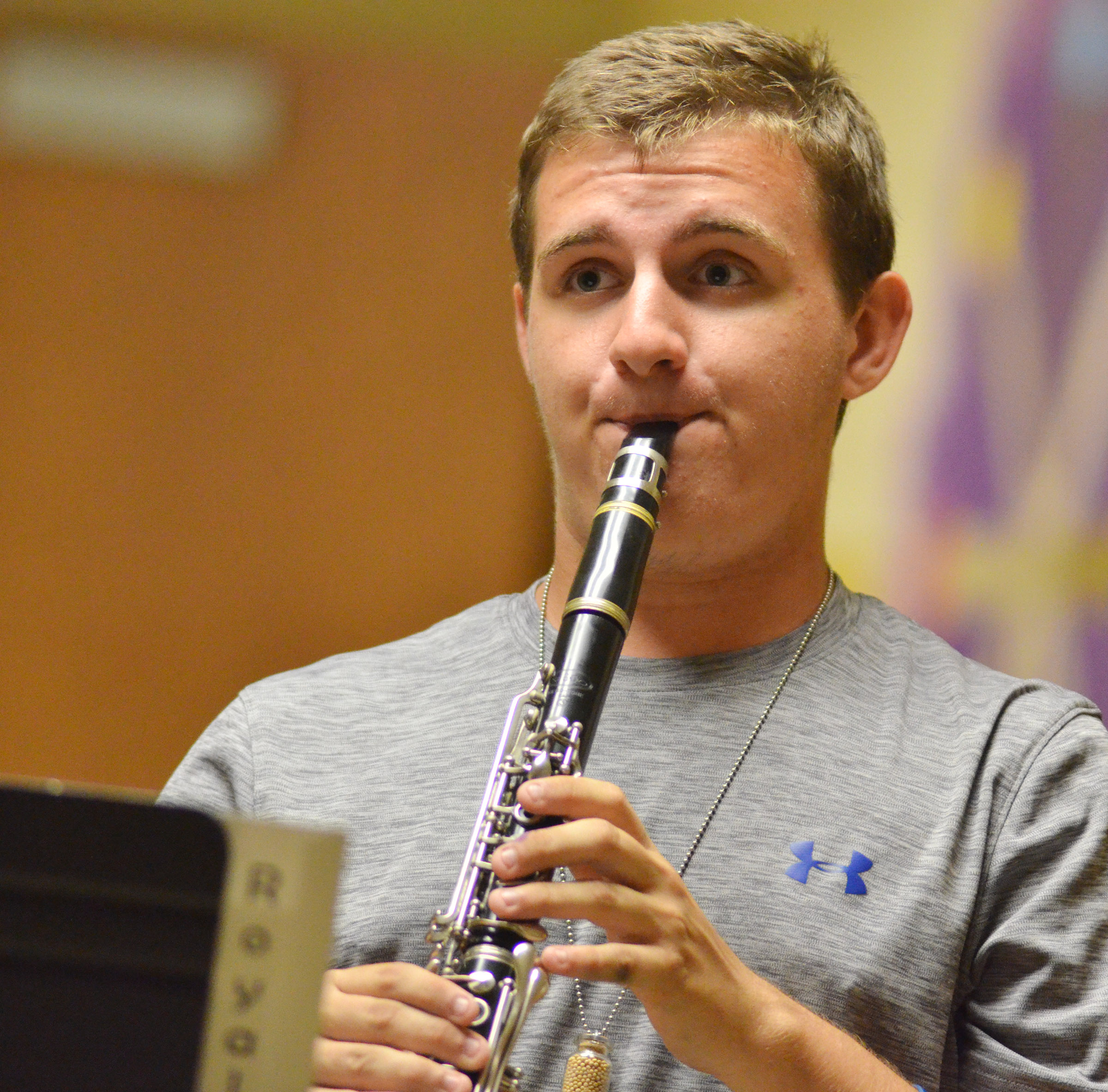 CHS senior Austin Fitzgerald plays clarinet.