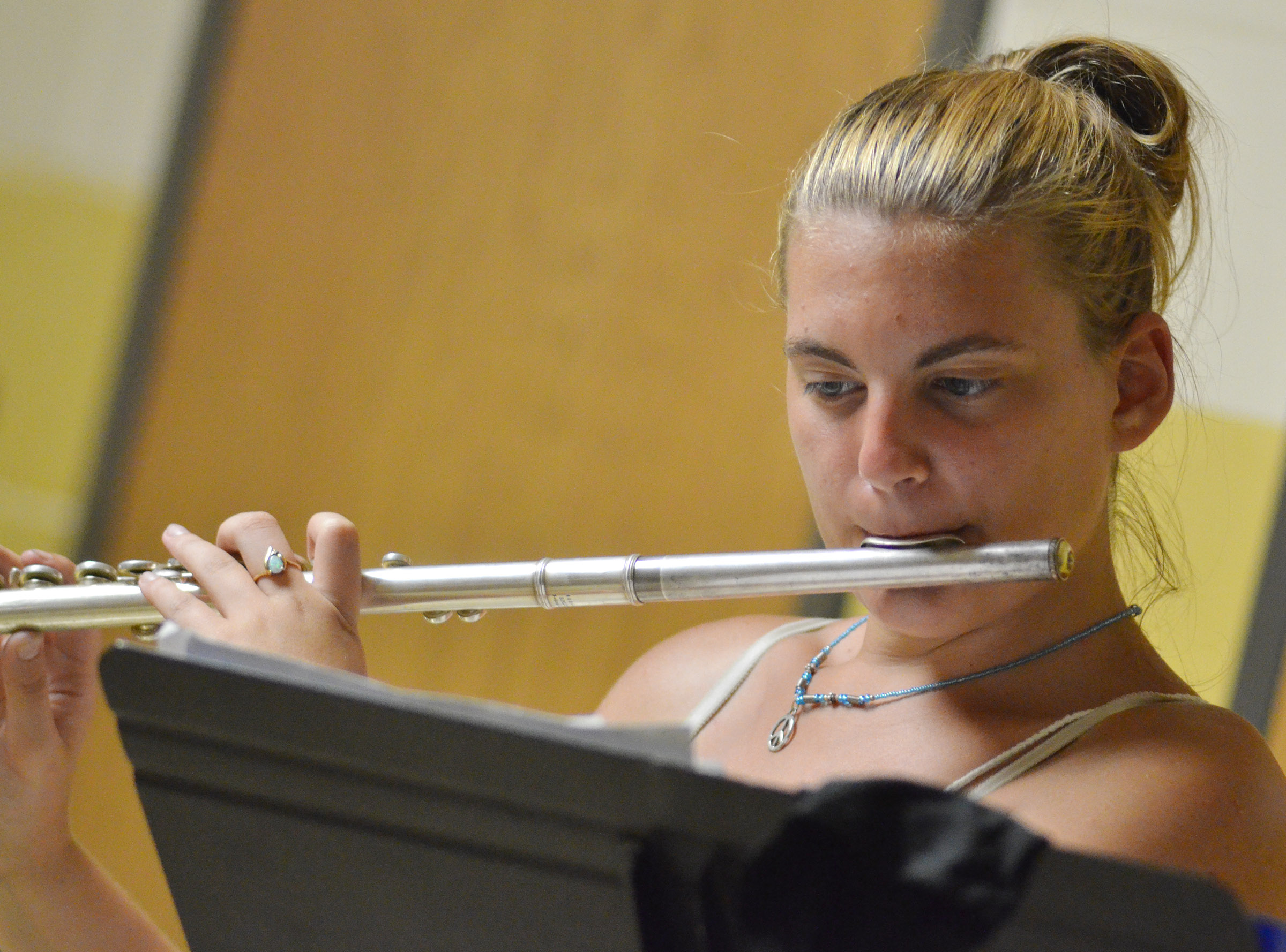 CHS senior Tiffany Kane plays flute.