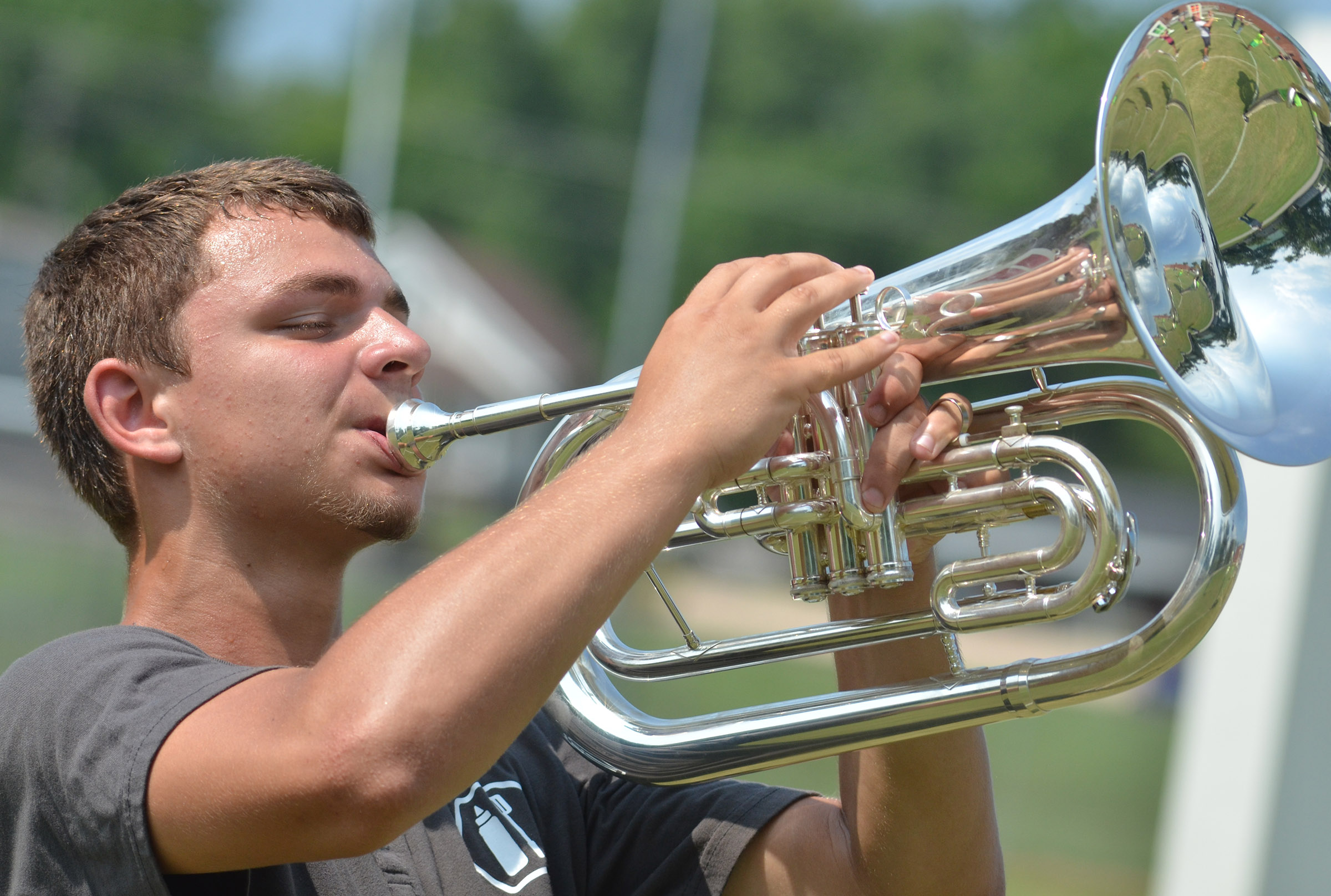 CHS senior Chaz Babbs plays baritone.