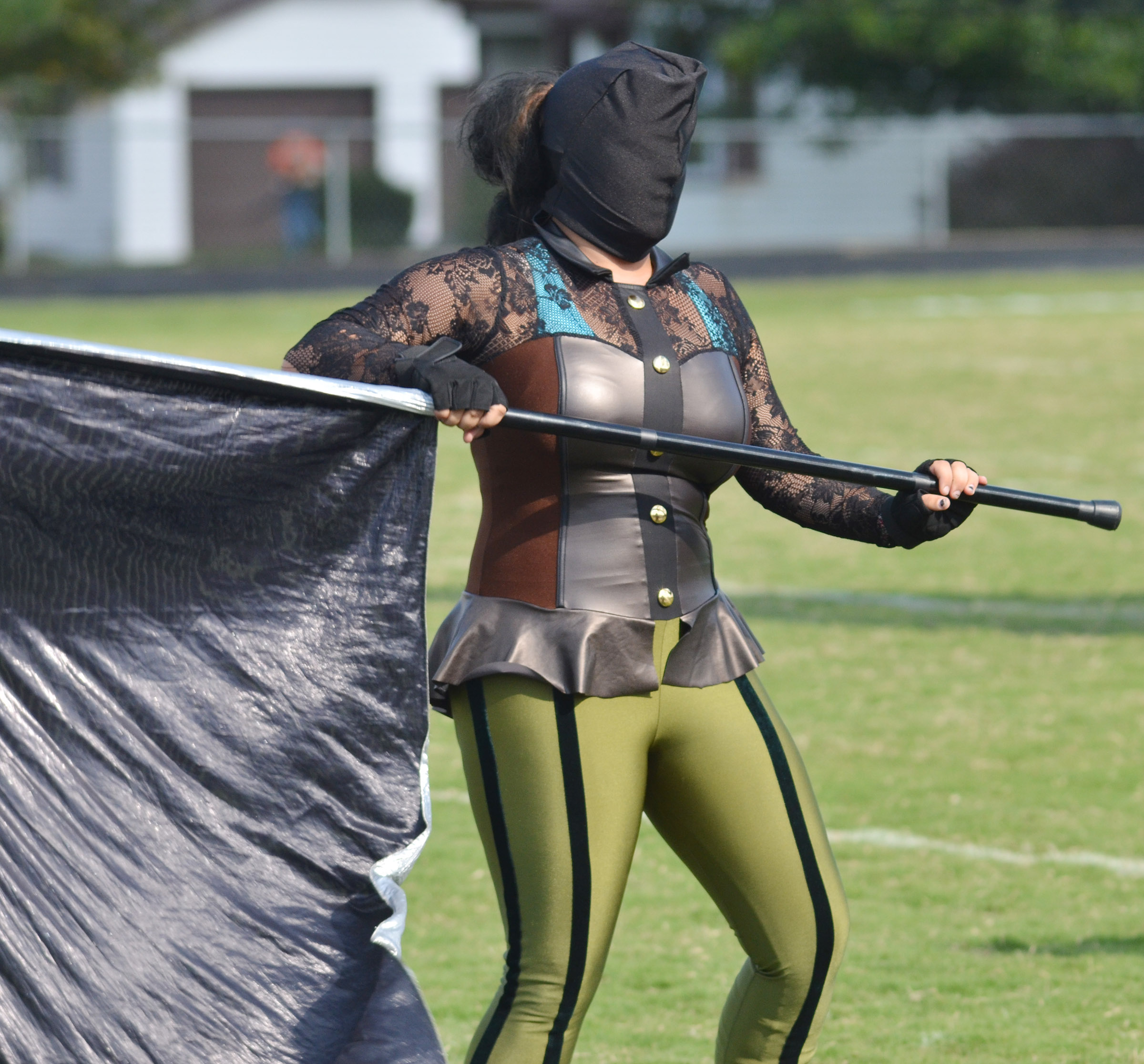 CHS sophomore Autumn Babbs is a member of the color guard.