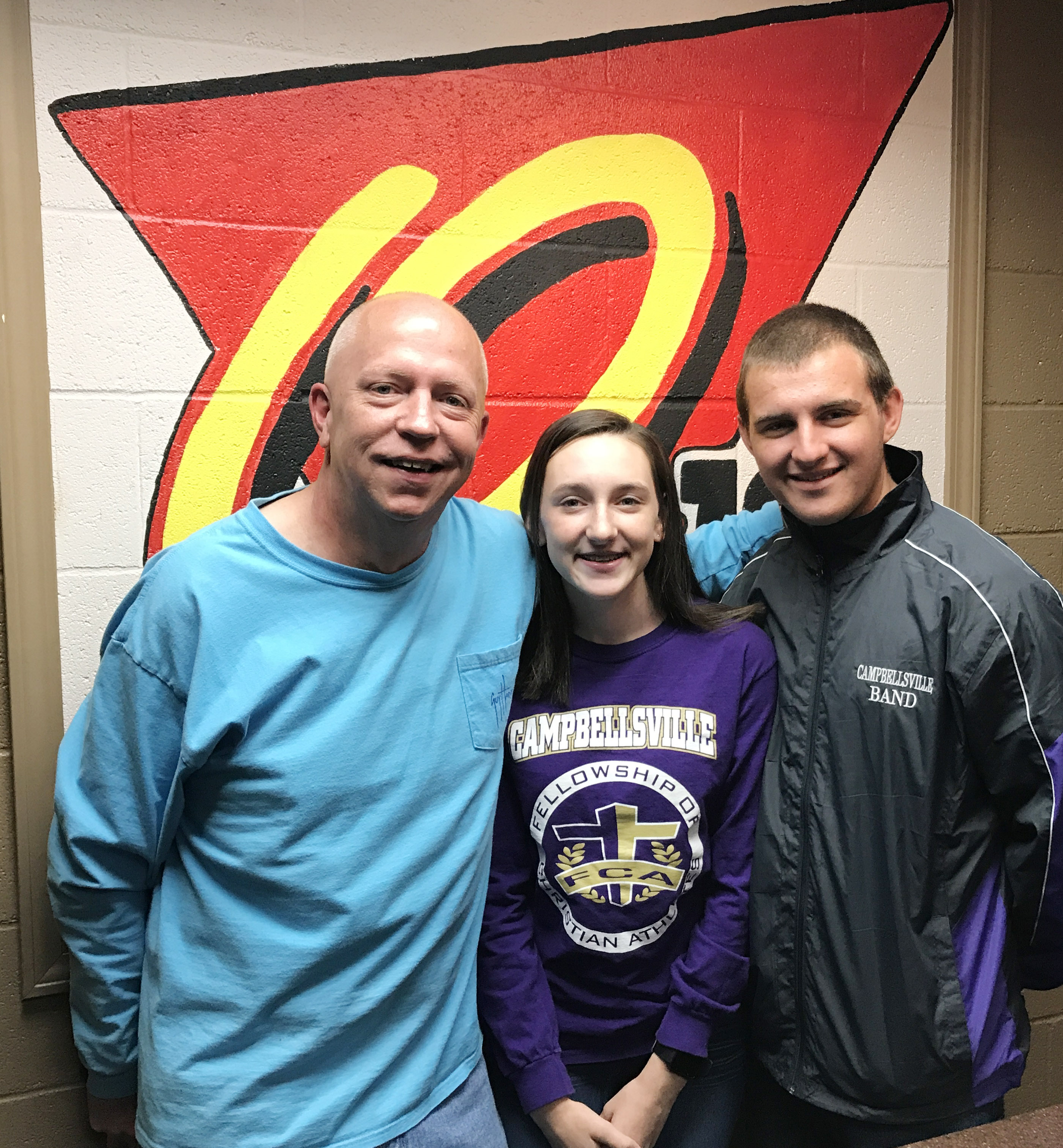 CHS sophomore Zoe McAninch and senior Austin Fitzgerald are on the air each Tuesday morning at 7 a.m. with Rob Collins on Q-104.