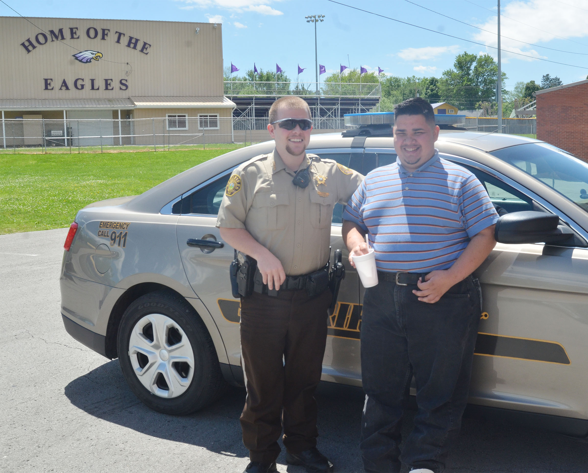 CHS senior Robert Tungate received a visit from special guest Taylor County Sheriff's Deputy Tyler Finn.
