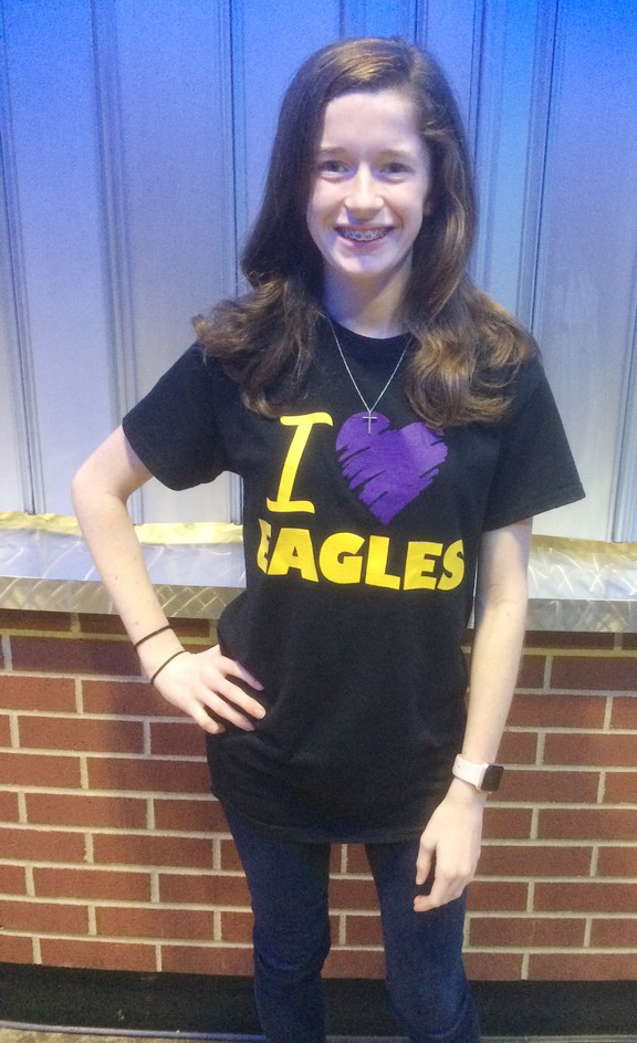 Gracyne Hash, a freshman, was named state runner-up in the digital storytelling competition.